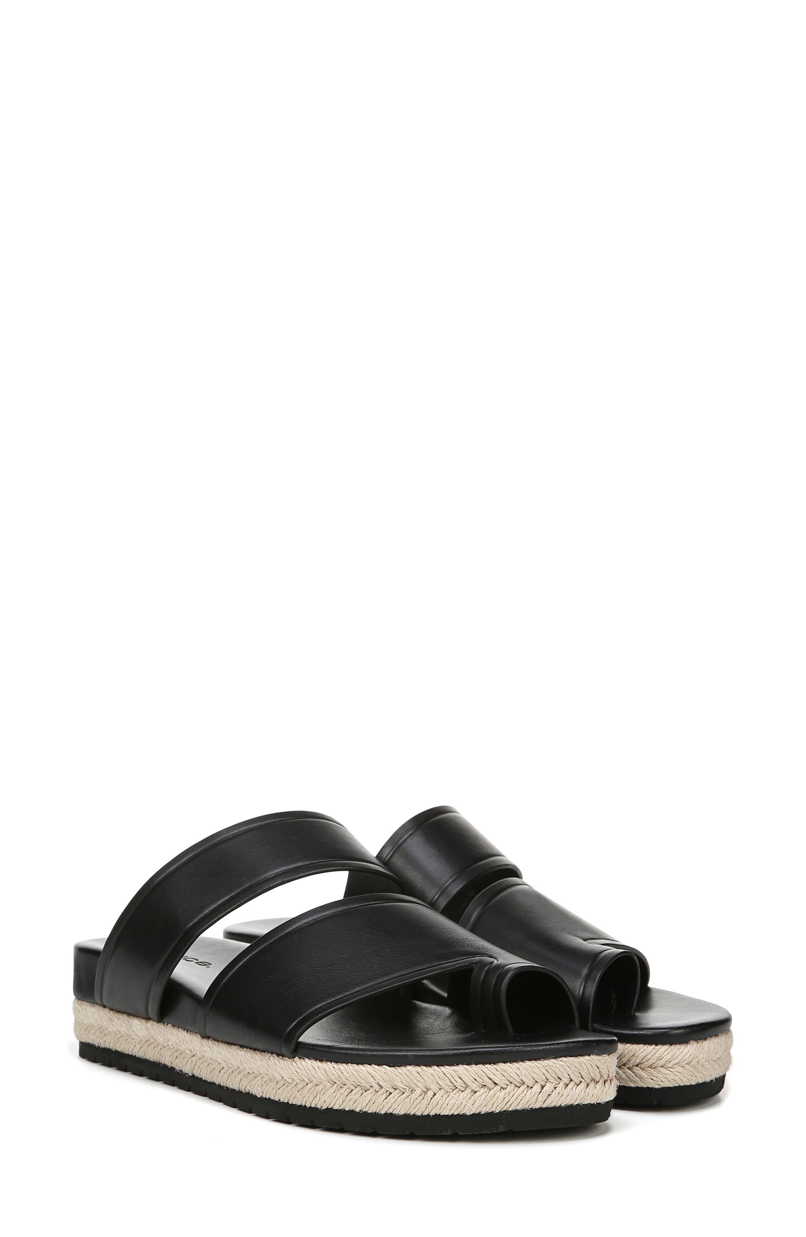 VINCE,                             Floyd Platform Slide Sandal,                             Alternate thumbnail 8, color,                             BLACK
