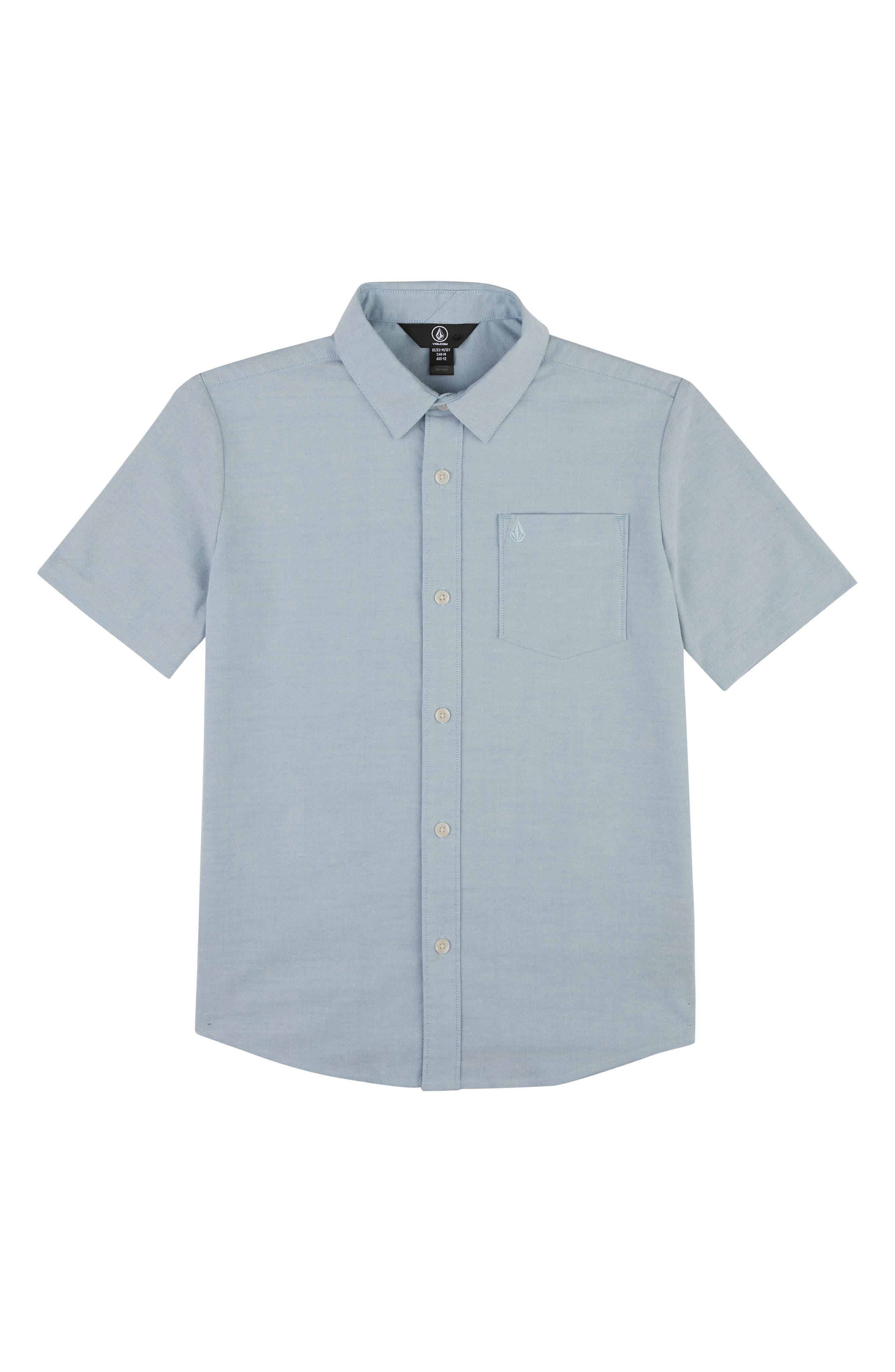 Everett Oxford Shirt,                             Main thumbnail 1, color,                             WRECKED INDIGO