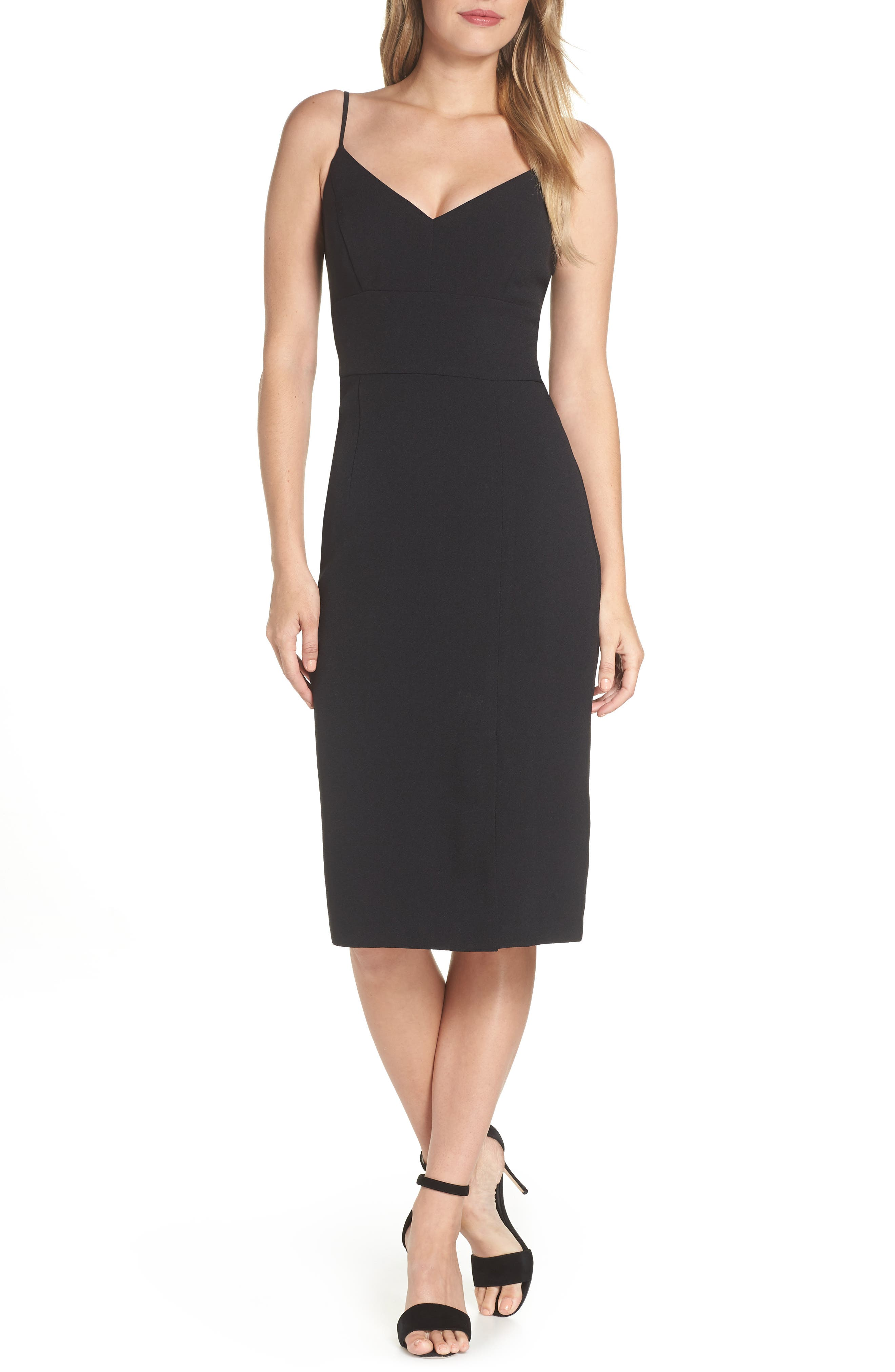 Sleeveless Cocktail Dress,                             Main thumbnail 1, color,                             BLACK