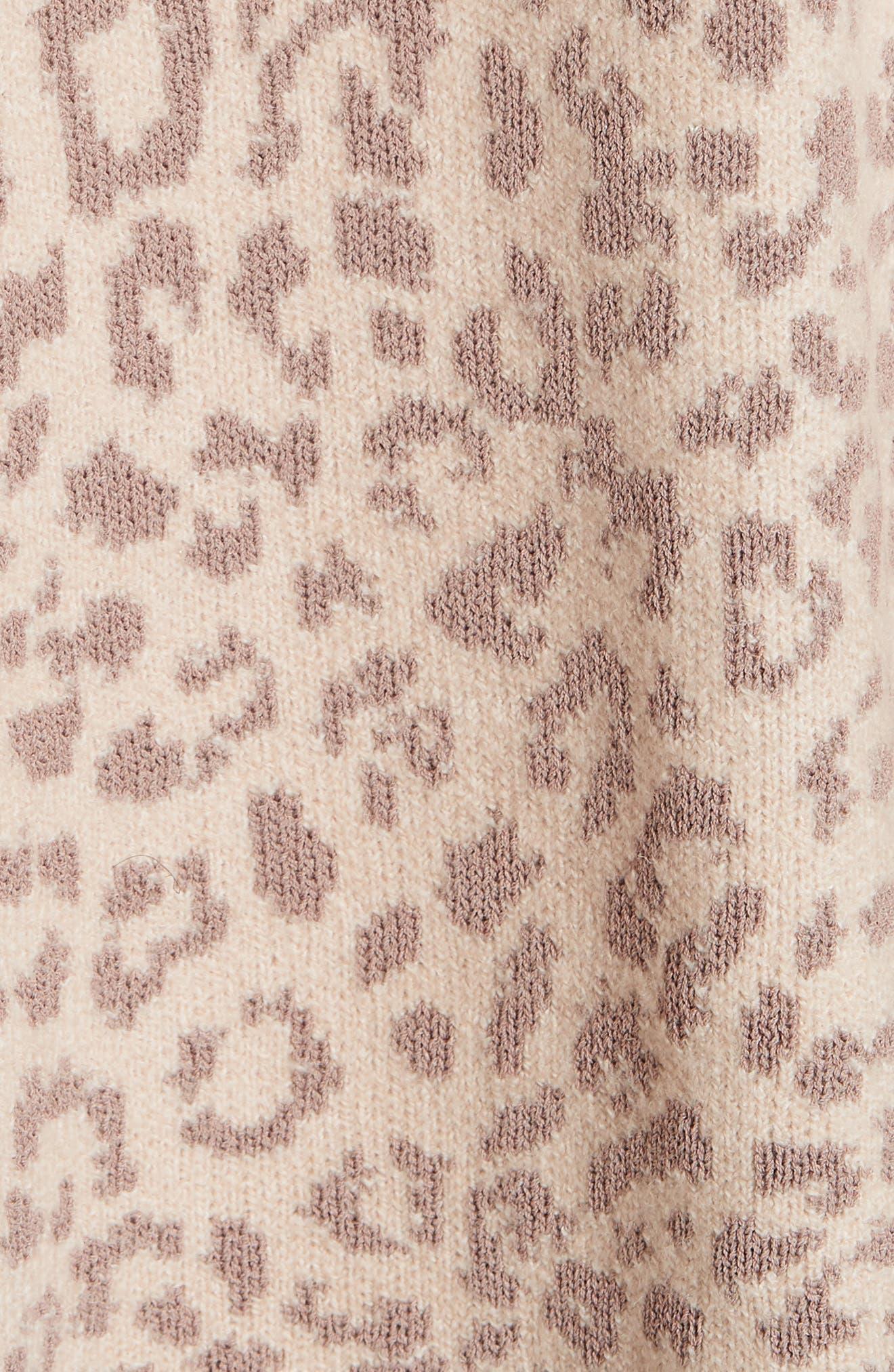 Leopard Print Sweater,                             Alternate thumbnail 5, color,                             250