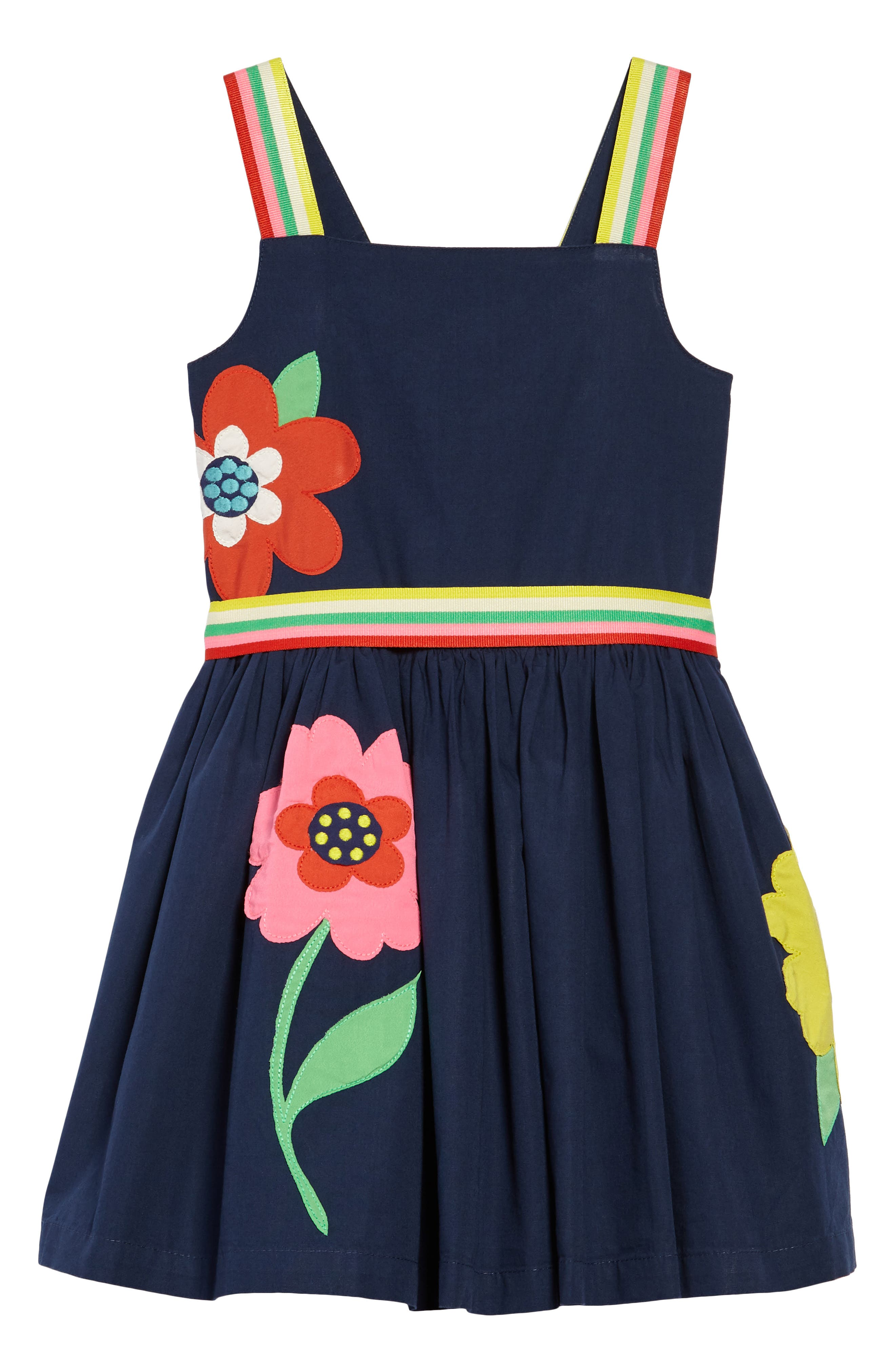 Bright Appliqué Dress,                         Main,                         color, 402