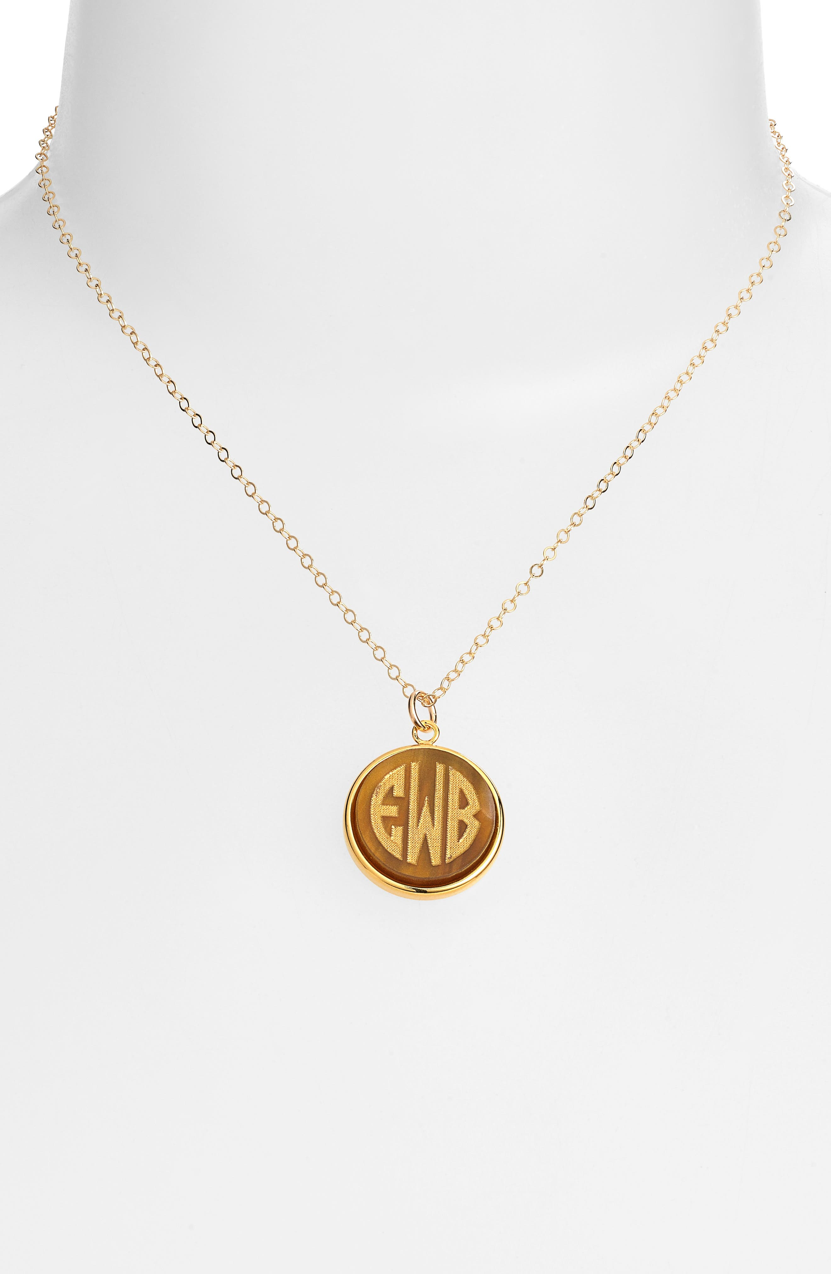 'Vineyard' Personalized Monogram Pendant Necklace,                             Alternate thumbnail 18, color,