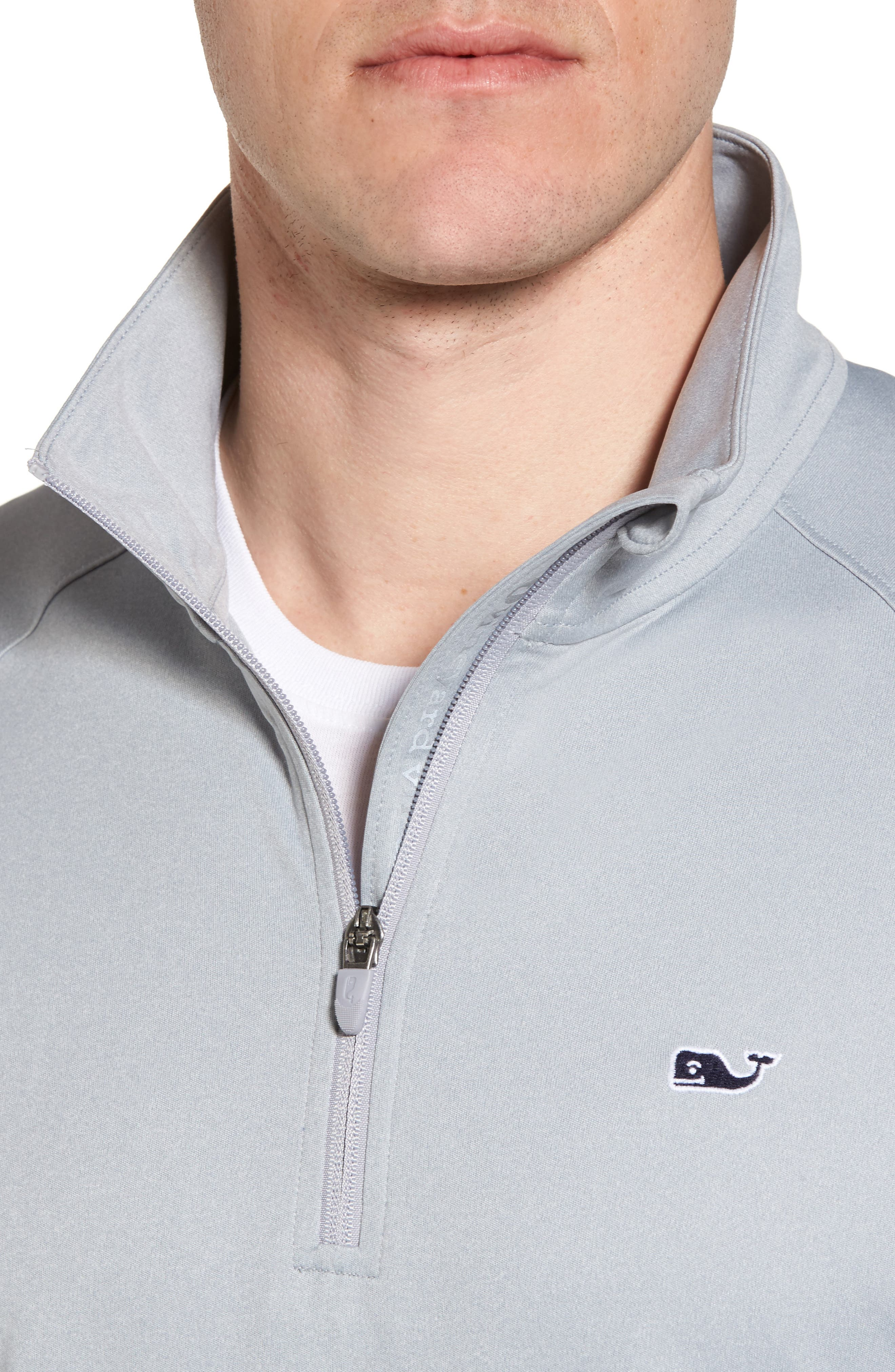 Heathered Quarter Zip Pullover,                             Alternate thumbnail 4, color,                             034