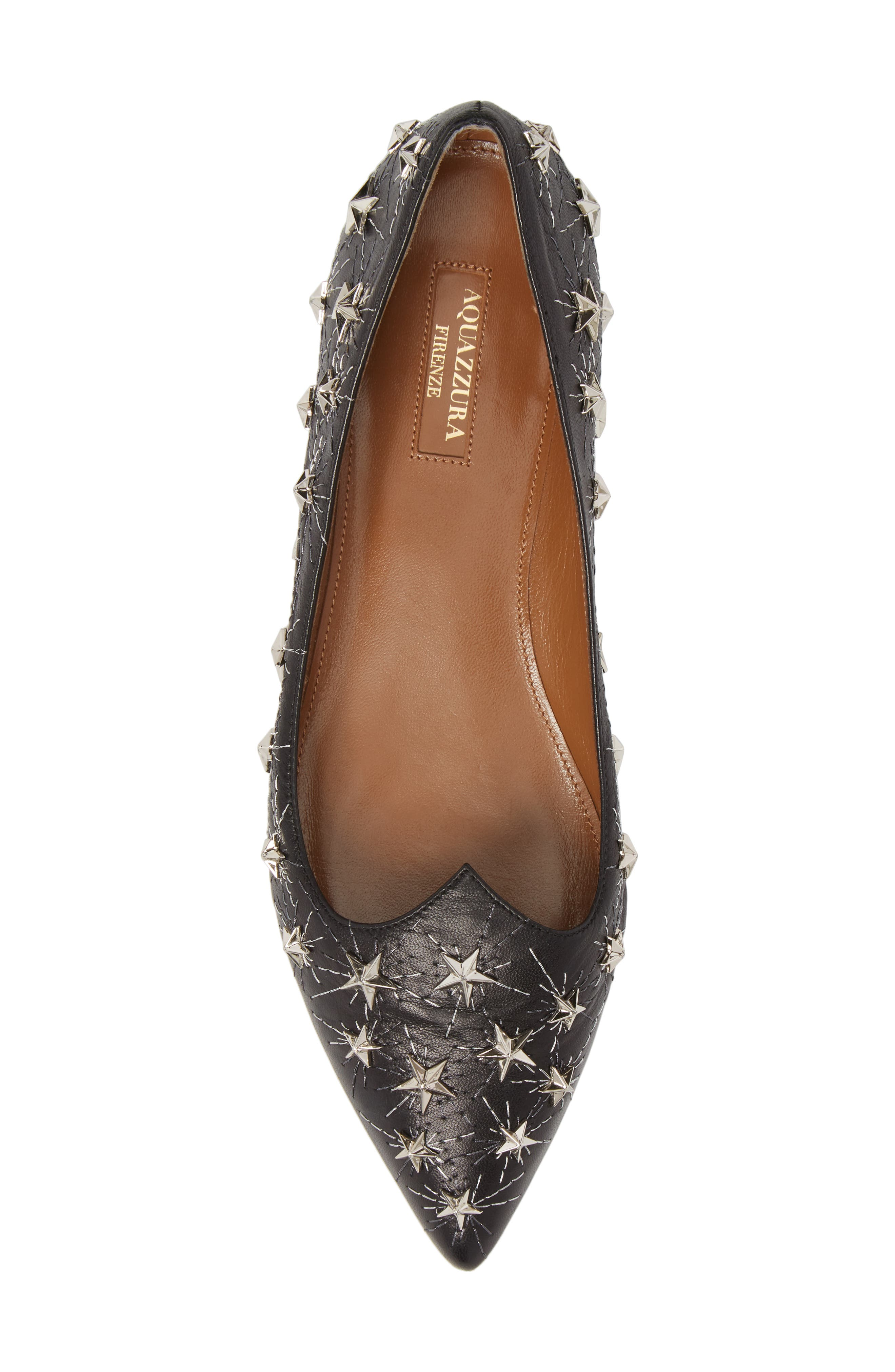 Cosmic Star Pointy Toe Flat,                             Alternate thumbnail 5, color,                             001