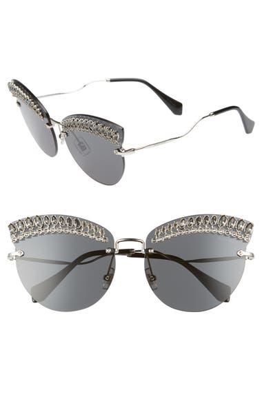 ec75006b893 Miu Miu Scenique Evolution 65mm Oversize Rimless Cat Eye Sunglasses ...