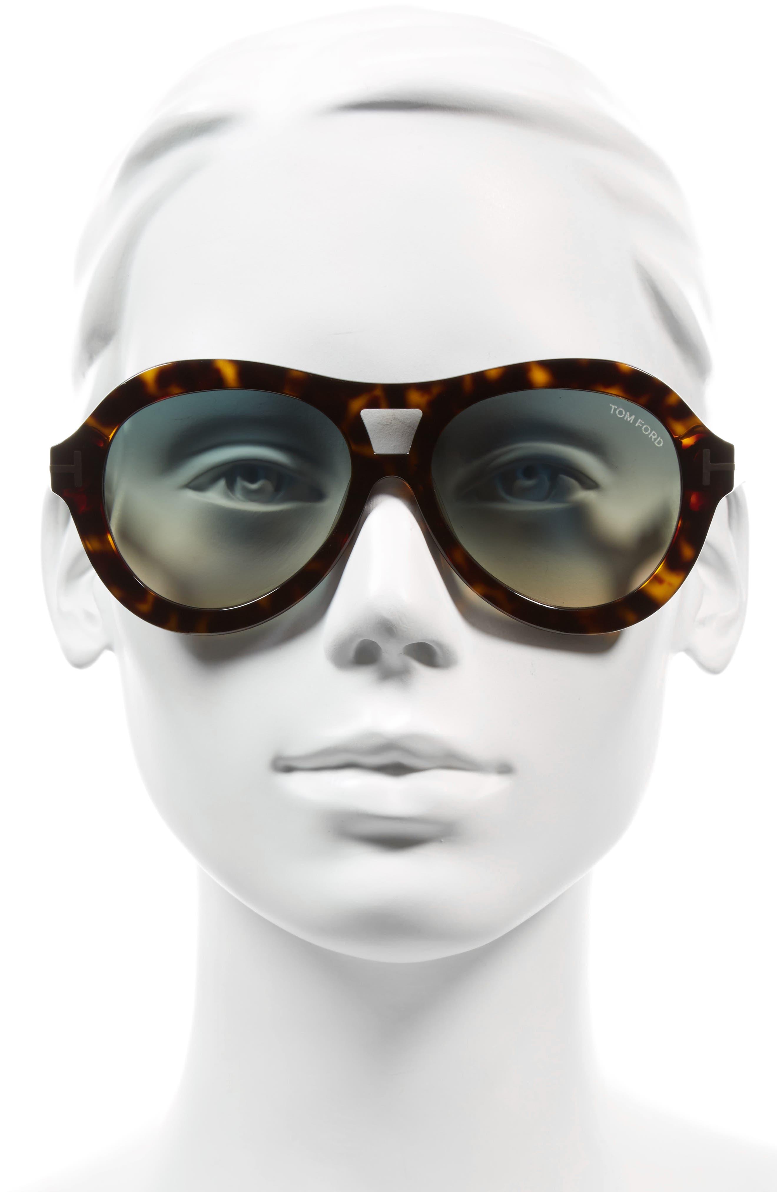 Isla 56mm Round Aviator Sunglasses,                             Alternate thumbnail 4, color,
