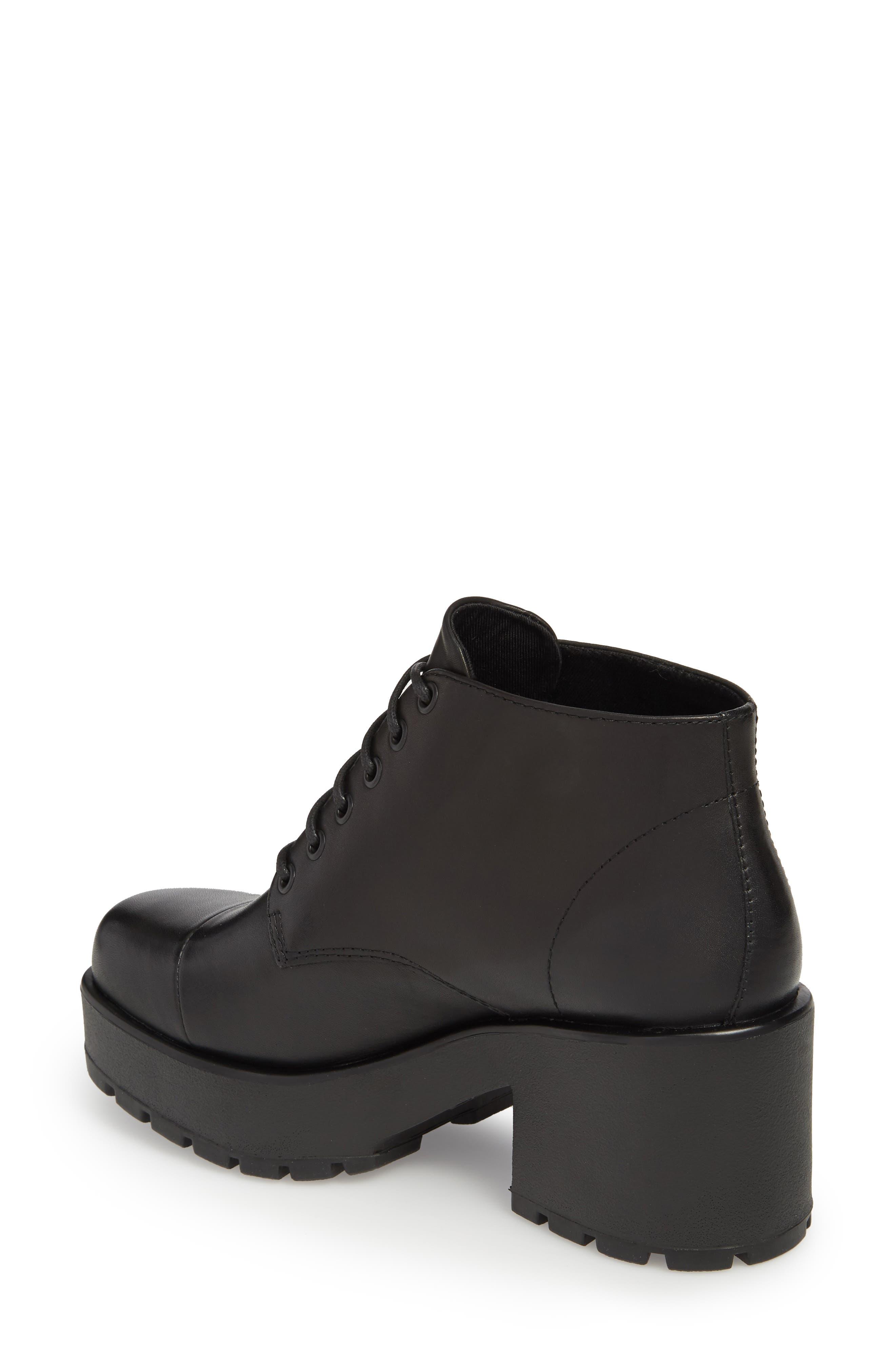 VAGABOND,                             Shoemakers Dioon Cap Toe Bootie,                             Alternate thumbnail 2, color,                             BLACK LEATHER