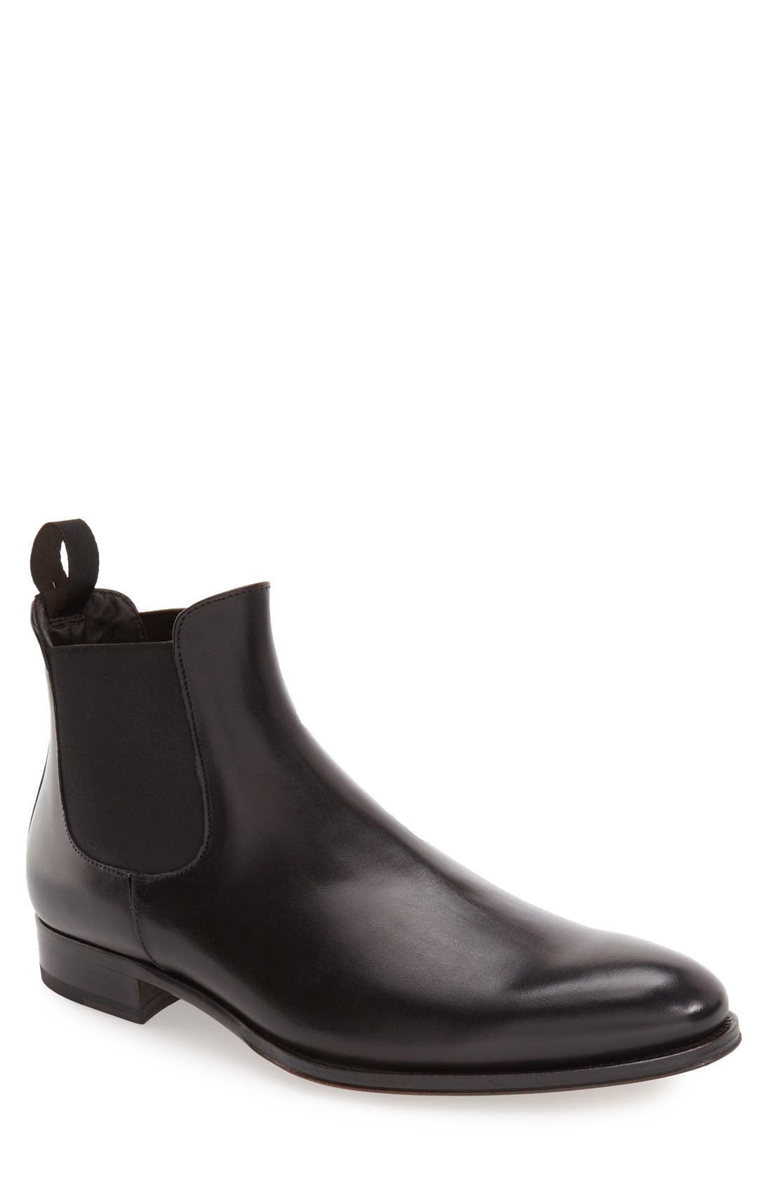 Toby Chelsea Boot,                         Main,                         color, BLACK LEATHER