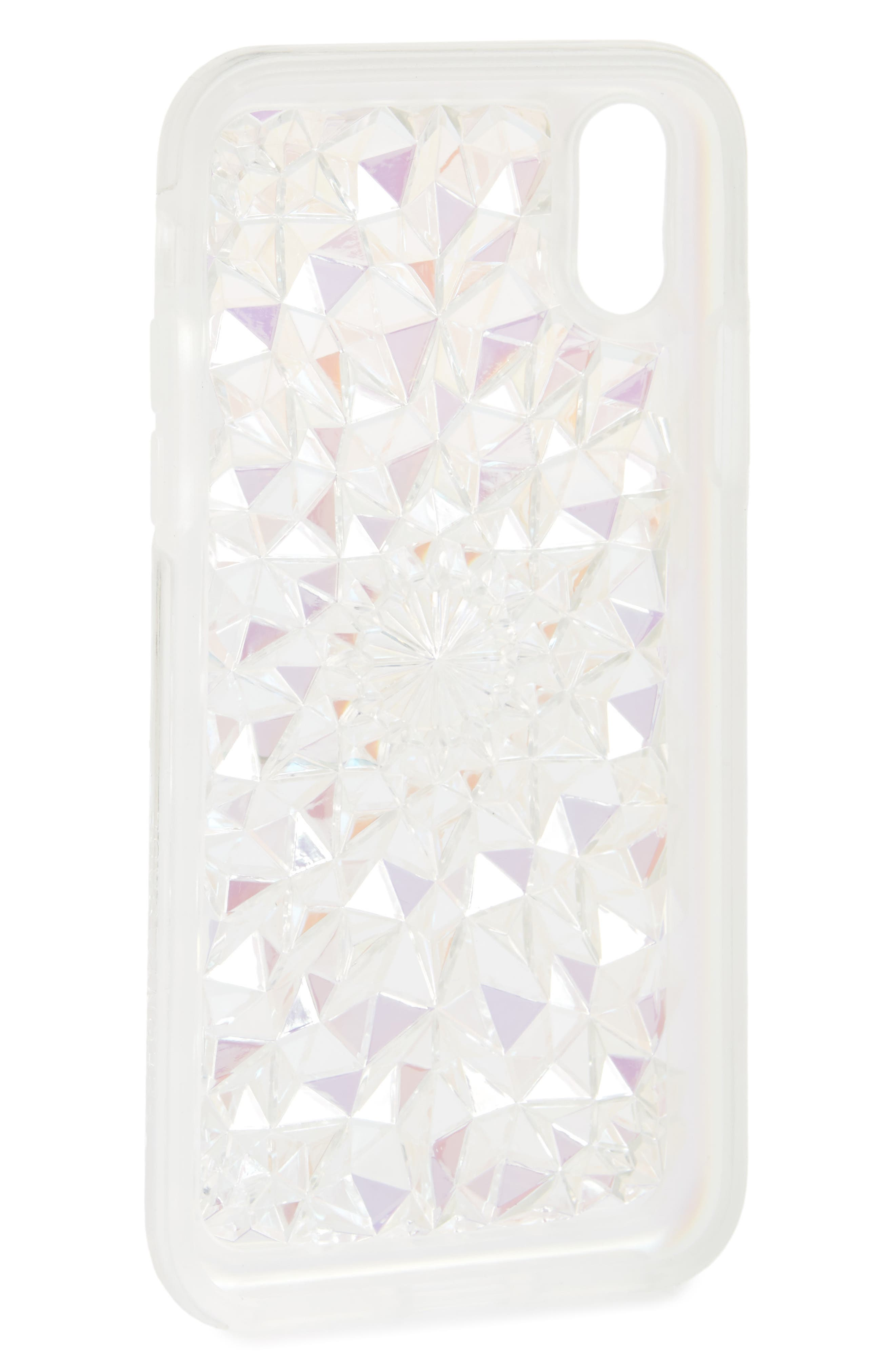 Clear Cosmic Kaleidoscope iPhone X Case,                             Alternate thumbnail 2, color,                             900