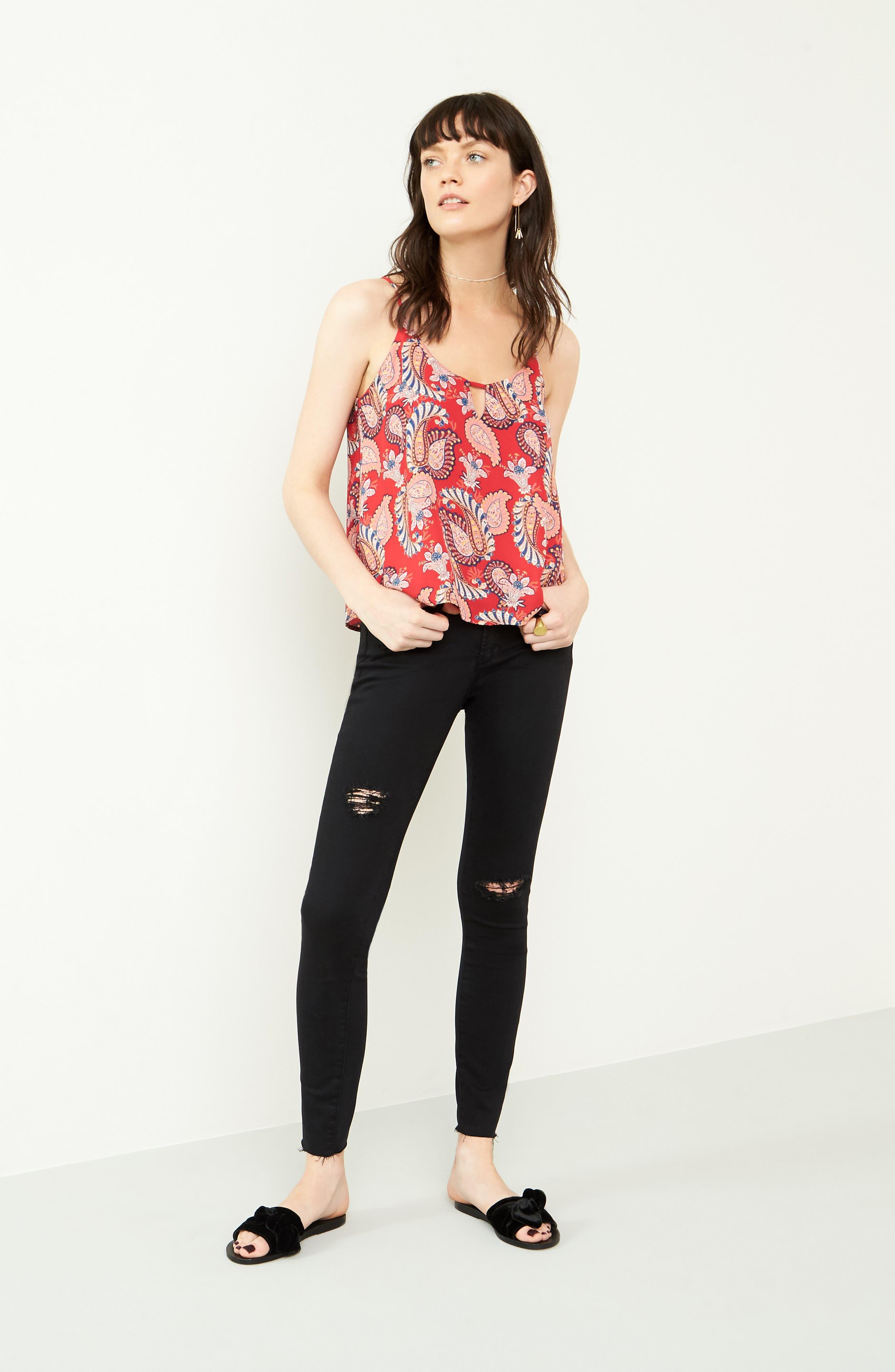 Sarah Skinny Jeans,                             Alternate thumbnail 8, color,                             001