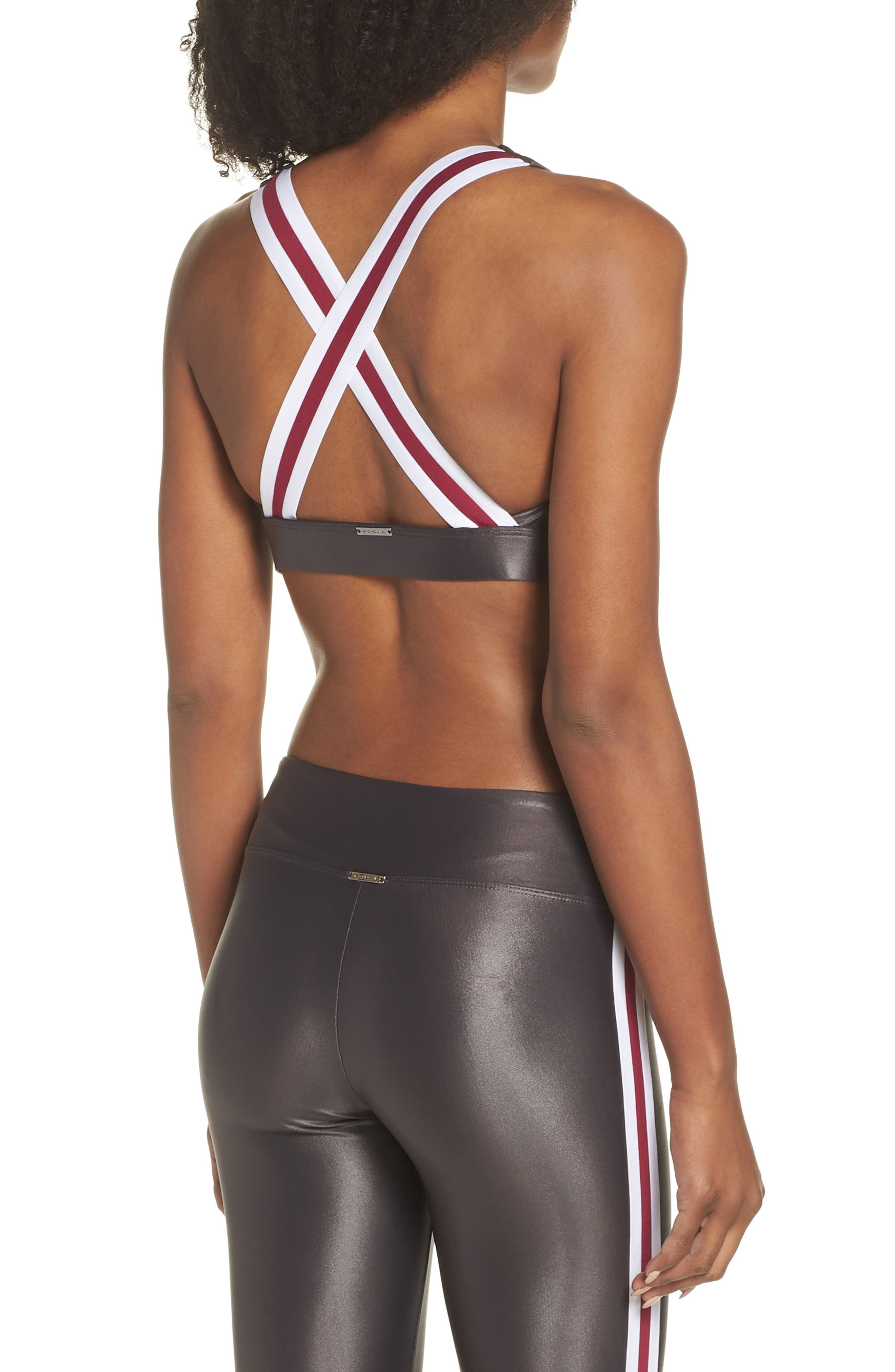 Fame Sports Bra,                             Alternate thumbnail 2, color,                             LEAD