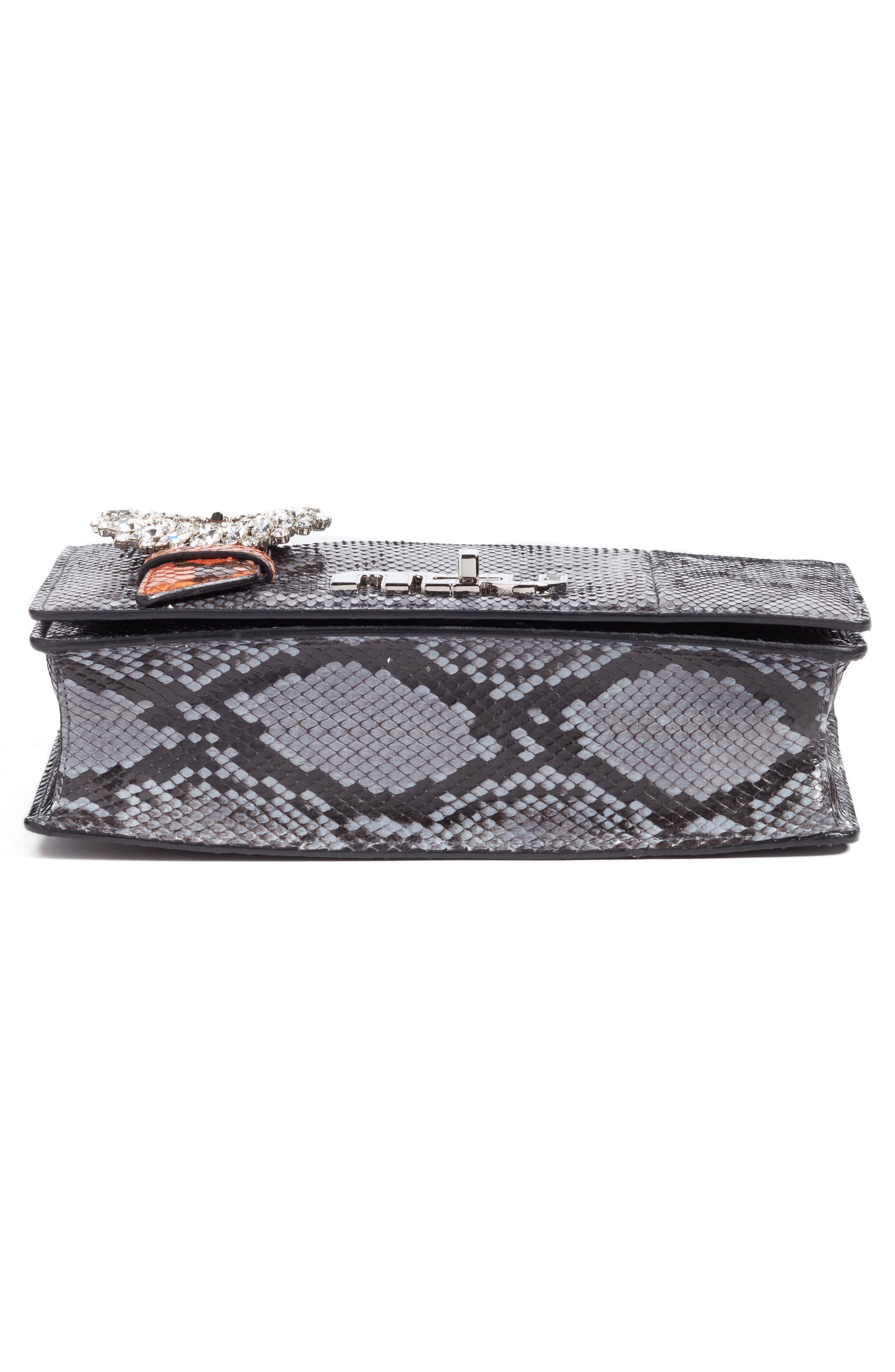 Genuine Python Shoulder Bag,                             Alternate thumbnail 6, color,                             460