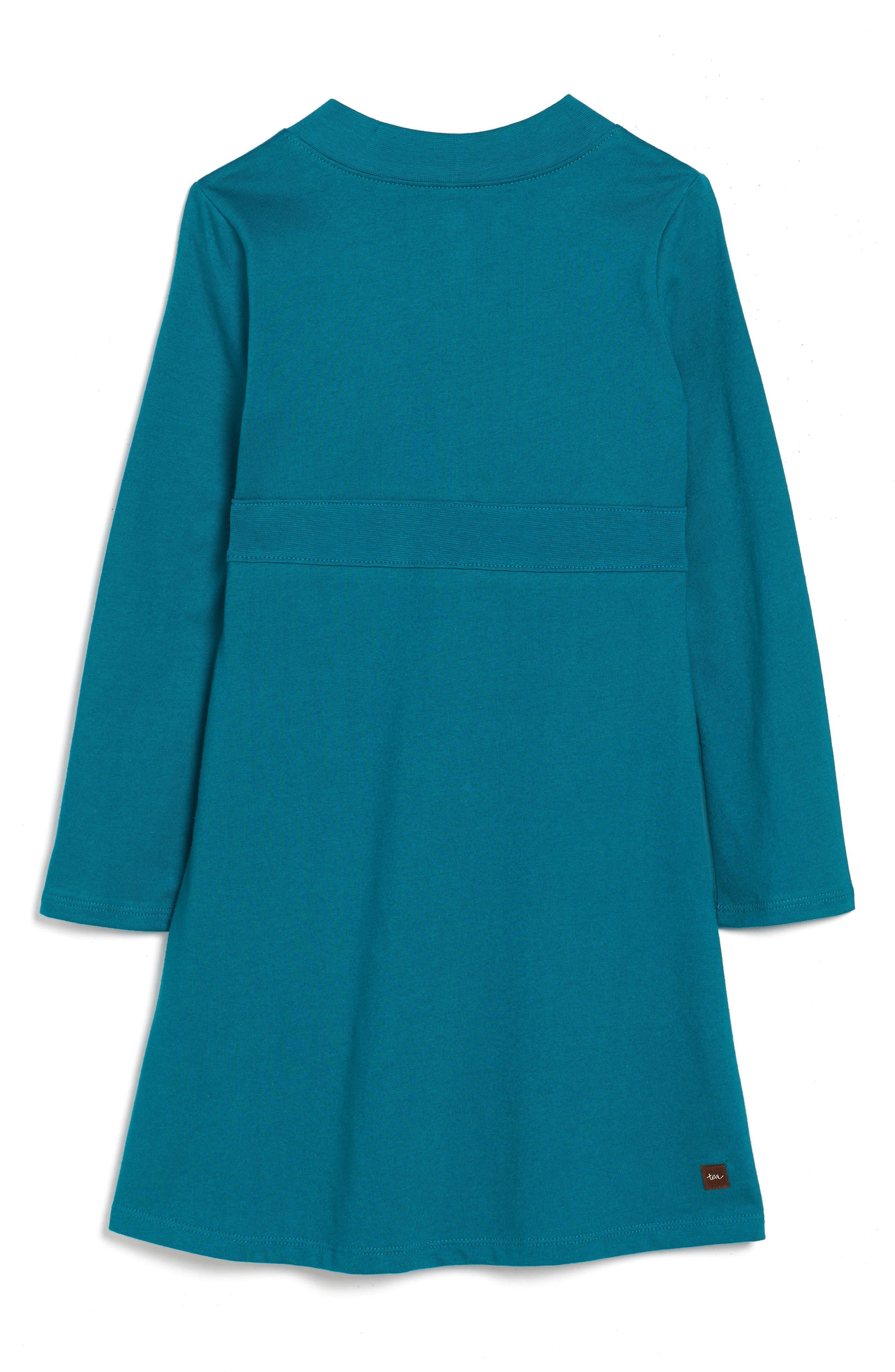 Ingram Street Print Wrap Neck Dress,                             Alternate thumbnail 2, color,                             443