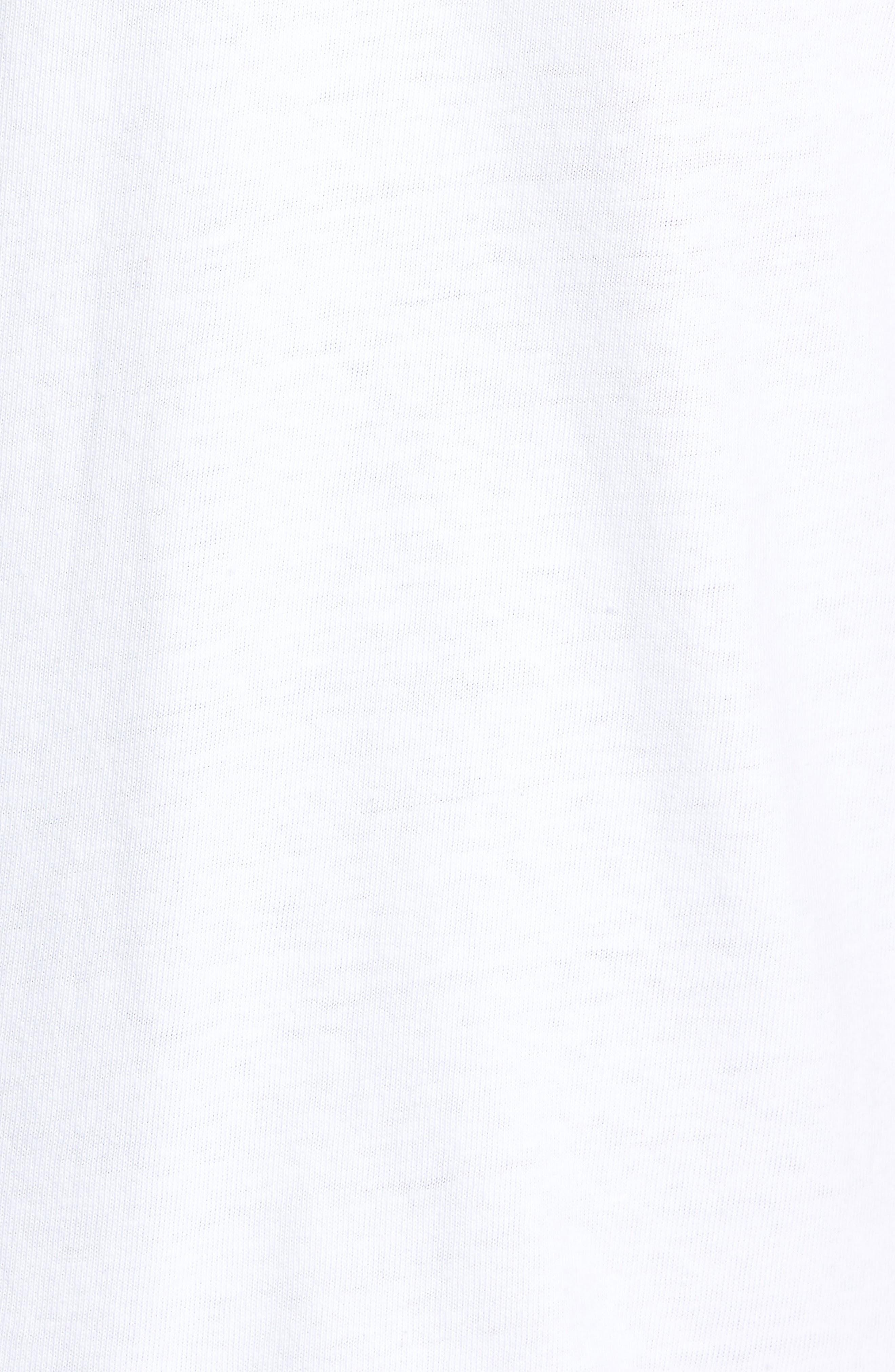 Oversize '90s Logo T-Shirt,                             Alternate thumbnail 5, color,                             WHITE