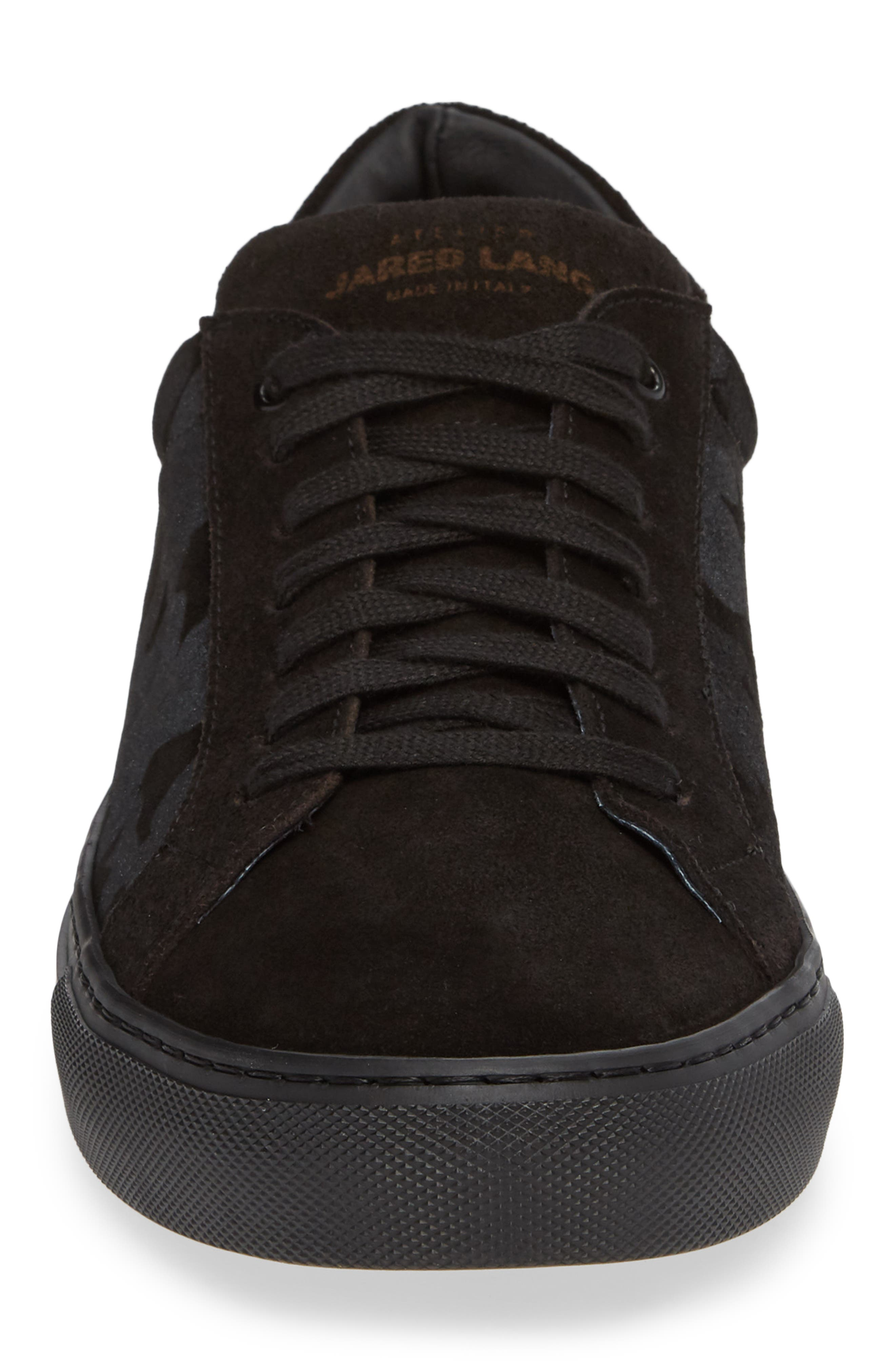Rome Sneaker,                             Alternate thumbnail 4, color,                             BLACK