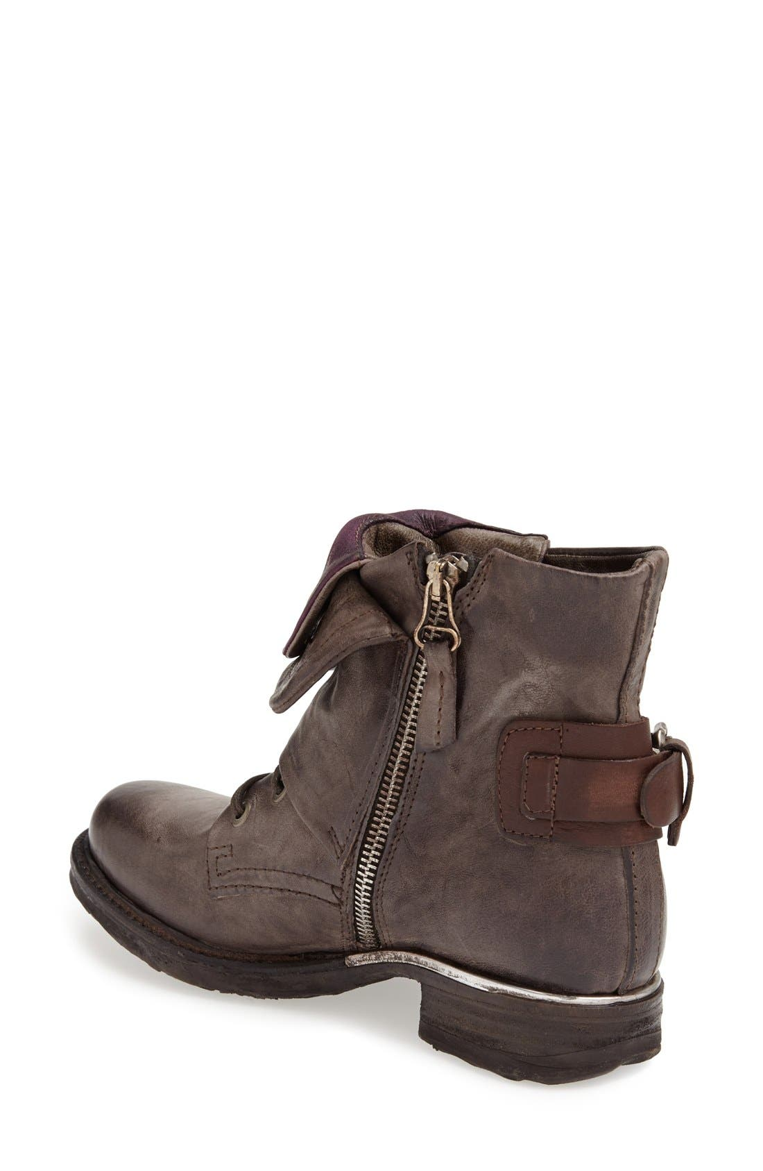 A.S. 98 'Simon' Front Cuff Leather Boot,                             Alternate thumbnail 2, color,                             060