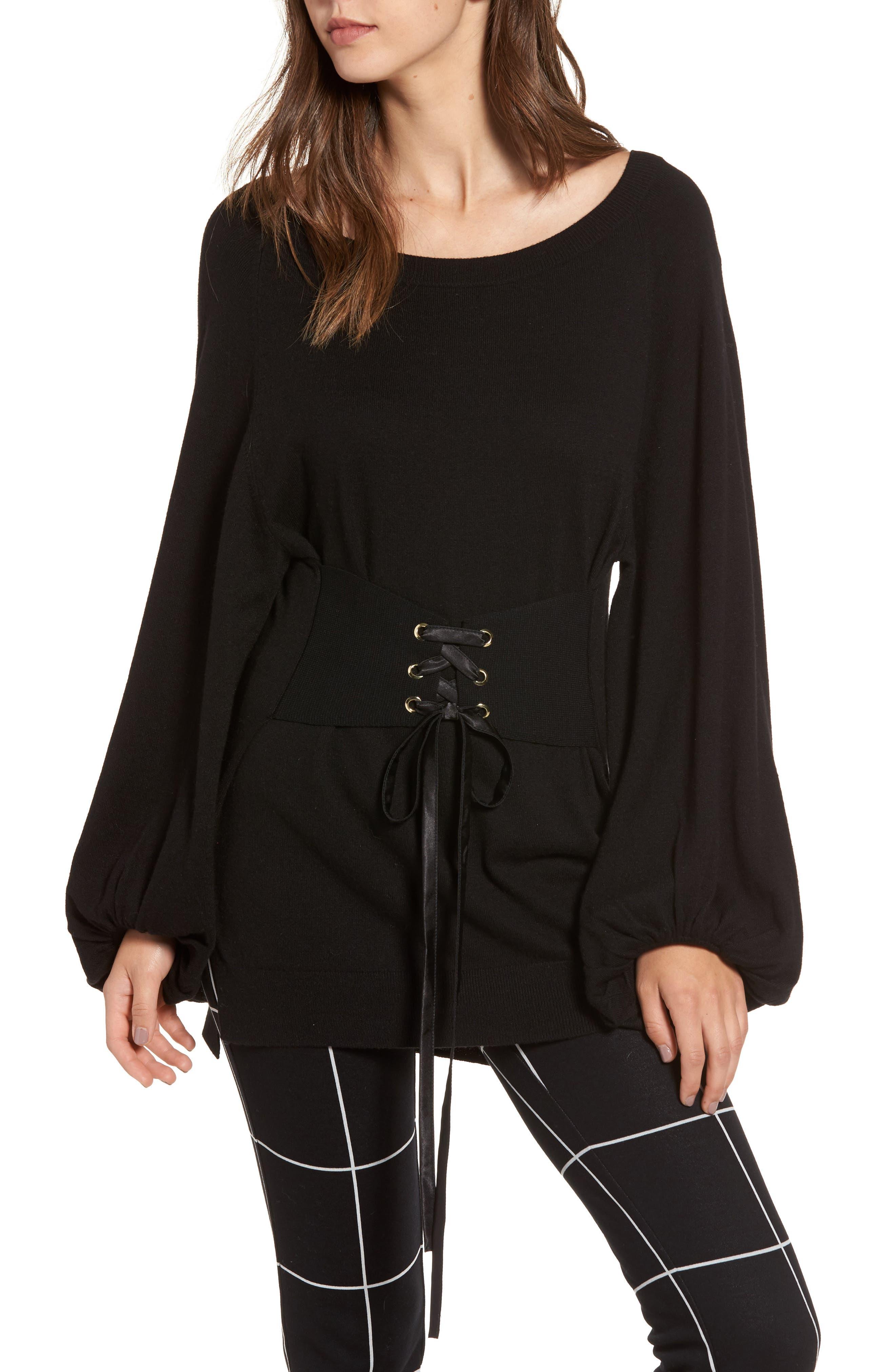 Corset Tunic Sweater,                         Main,                         color,