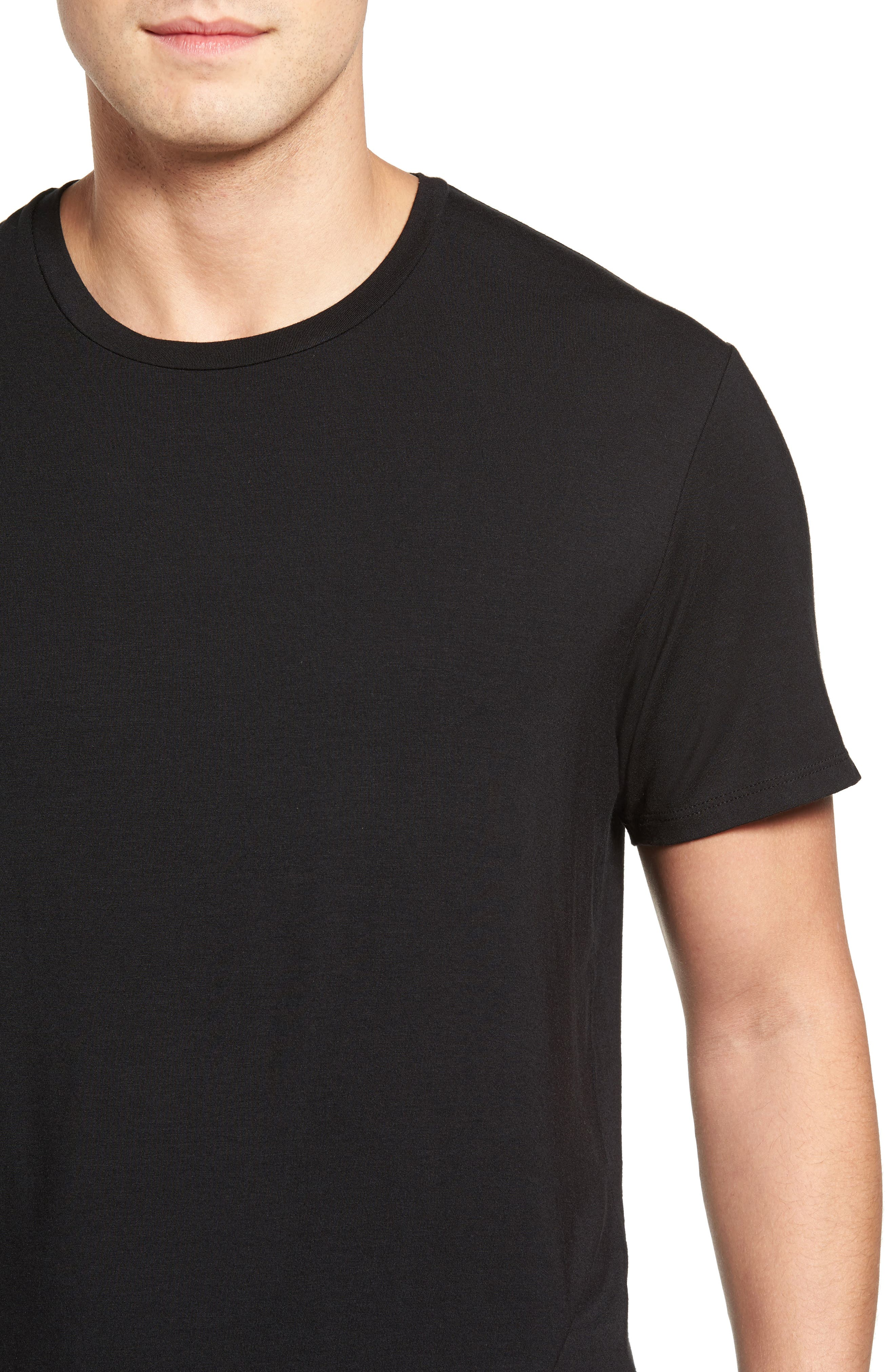 Stretch Modal T-Shirt,                             Alternate thumbnail 4, color,                             001