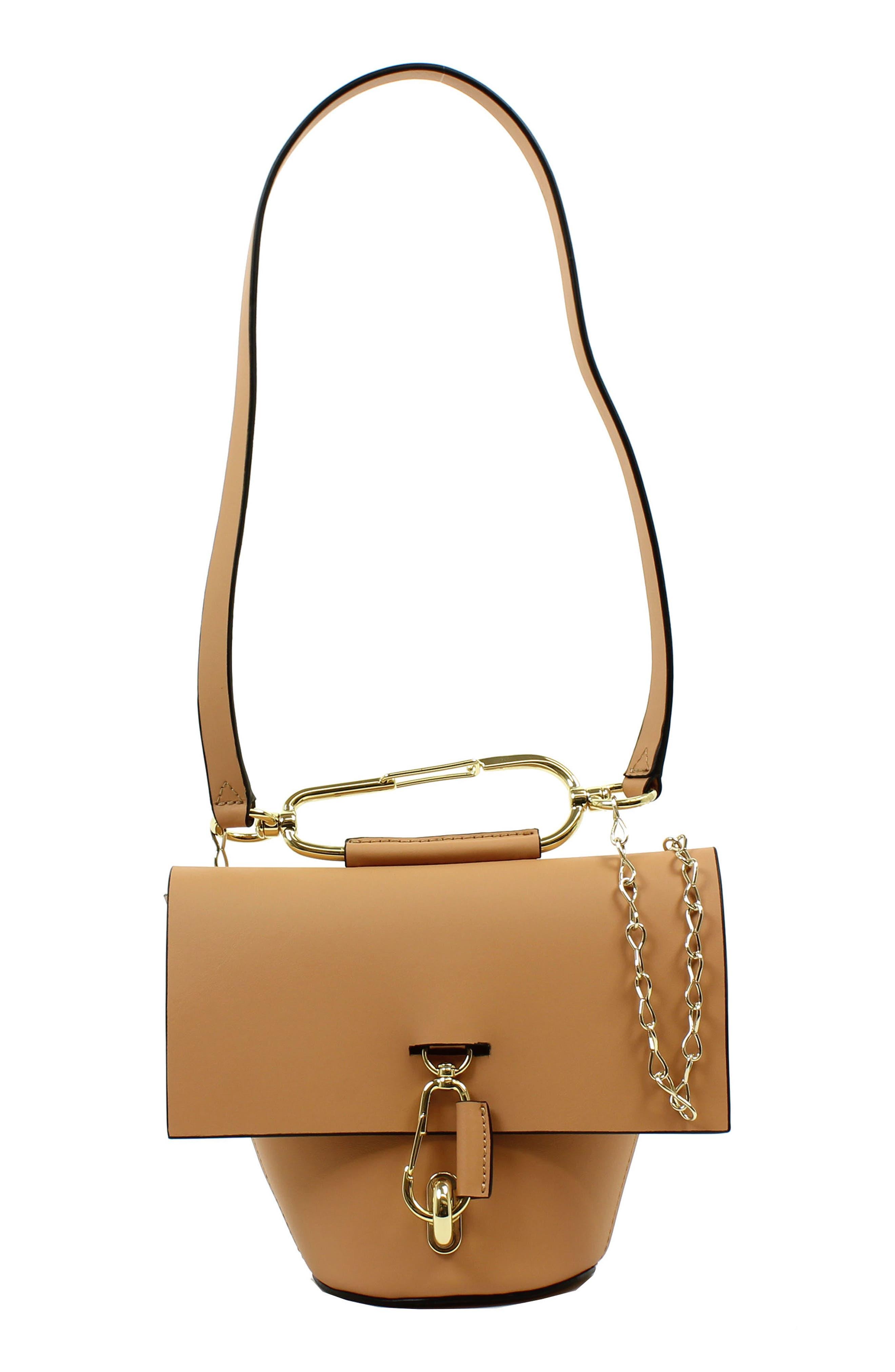 Belay Chain Calfskin Leather Crossbody Bag,                             Main thumbnail 2, color,