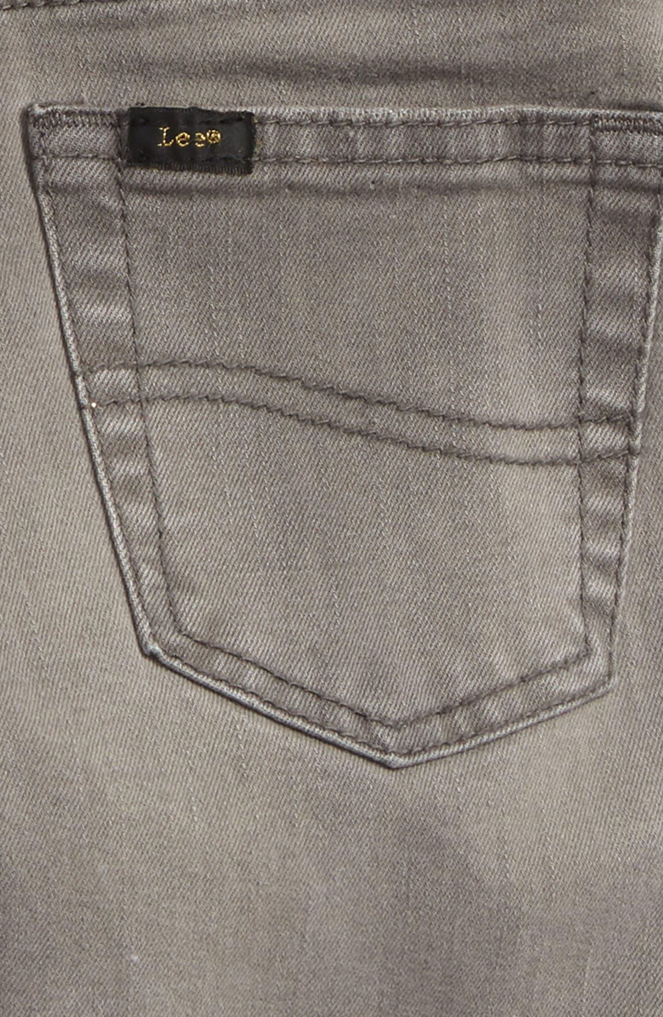 Stretch Denim Roll Cuff Shorts,                             Alternate thumbnail 3, color,                             060