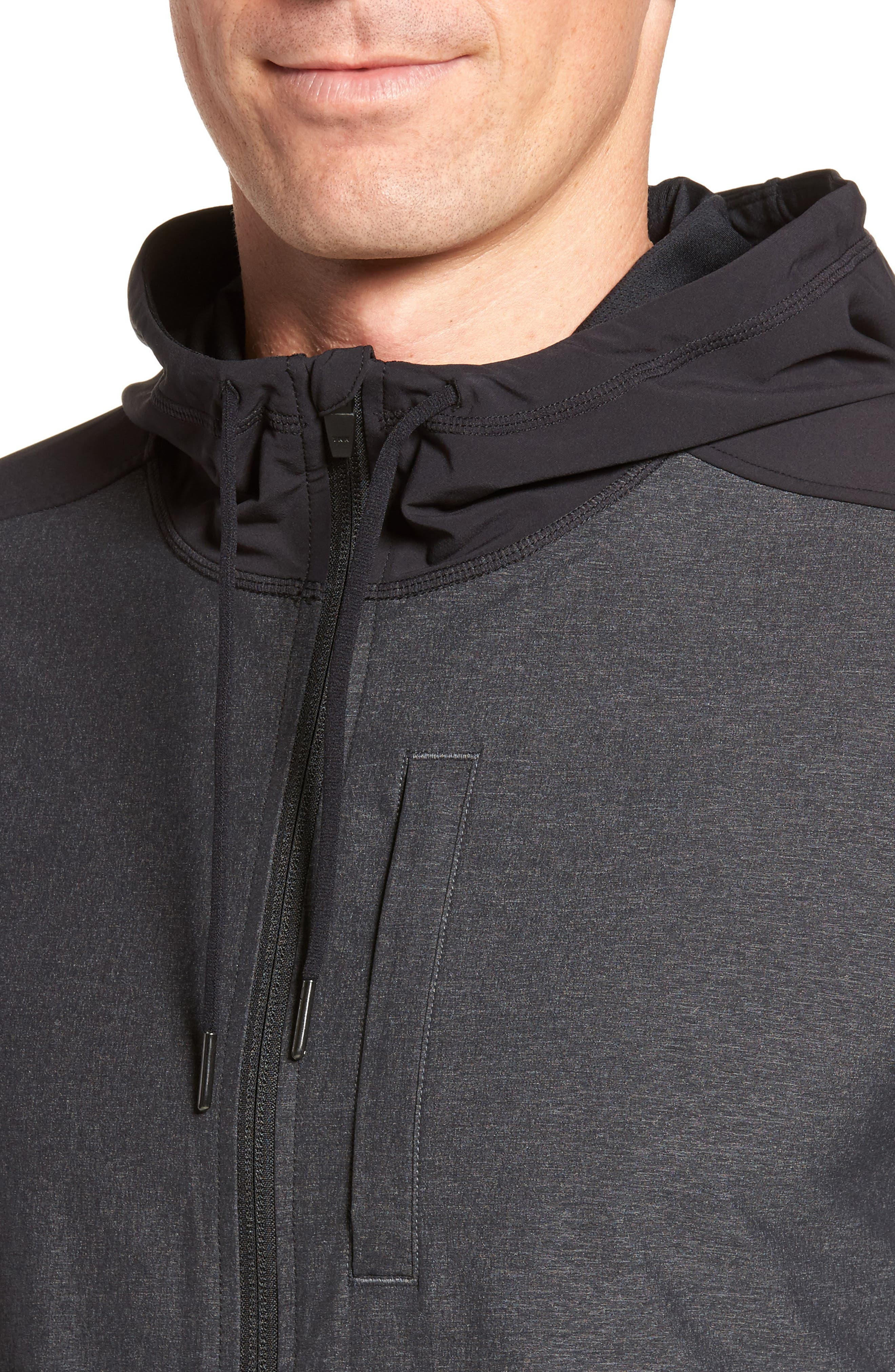 Knit & Woven Hoodie,                             Alternate thumbnail 4, color,                             021