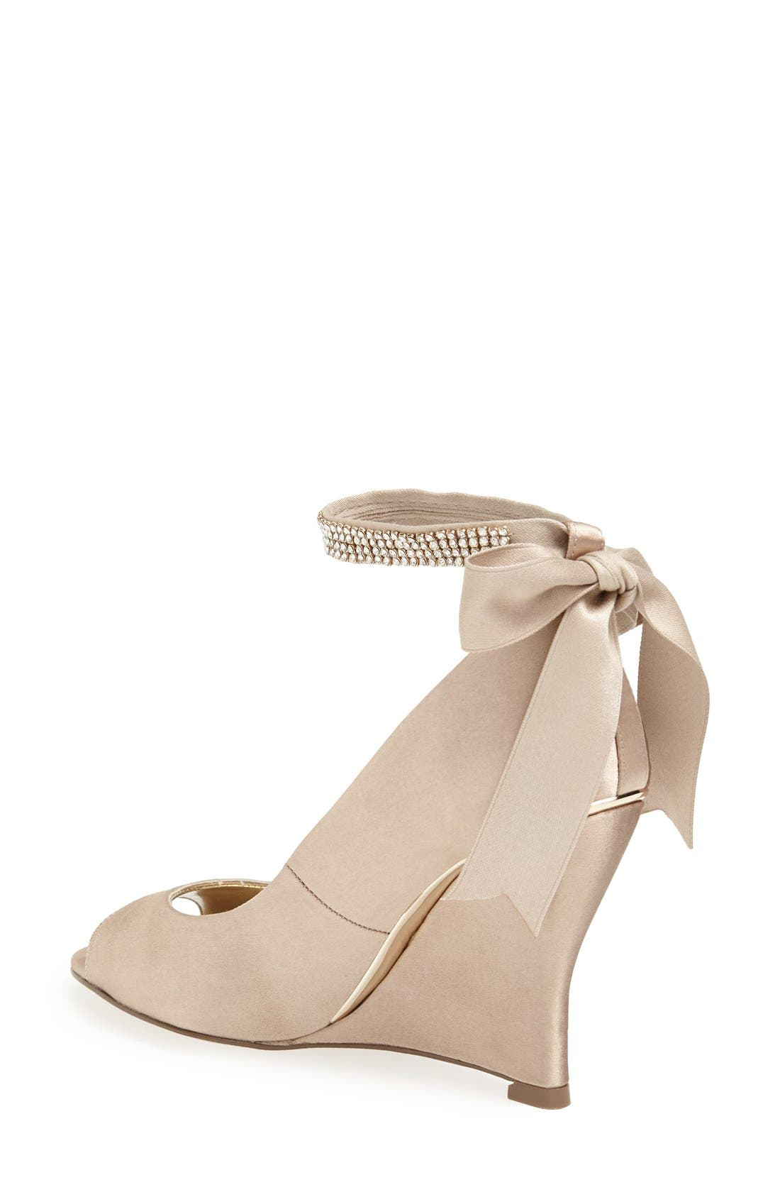 'Emma' Crystal Embellished Ankle Strap Pump,                             Alternate thumbnail 4, color,                             291