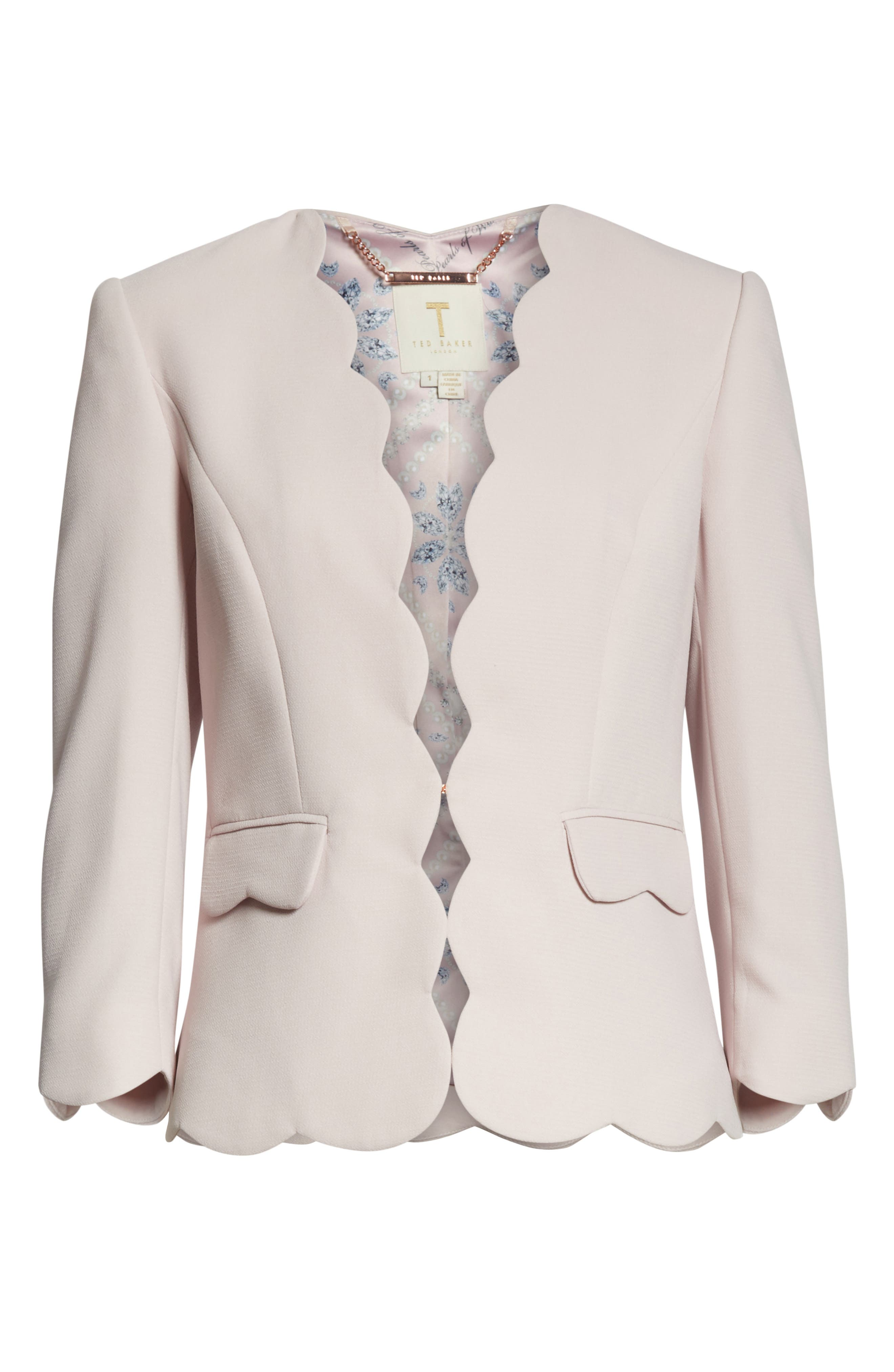 Scalloped Blazer,                             Alternate thumbnail 10, color,