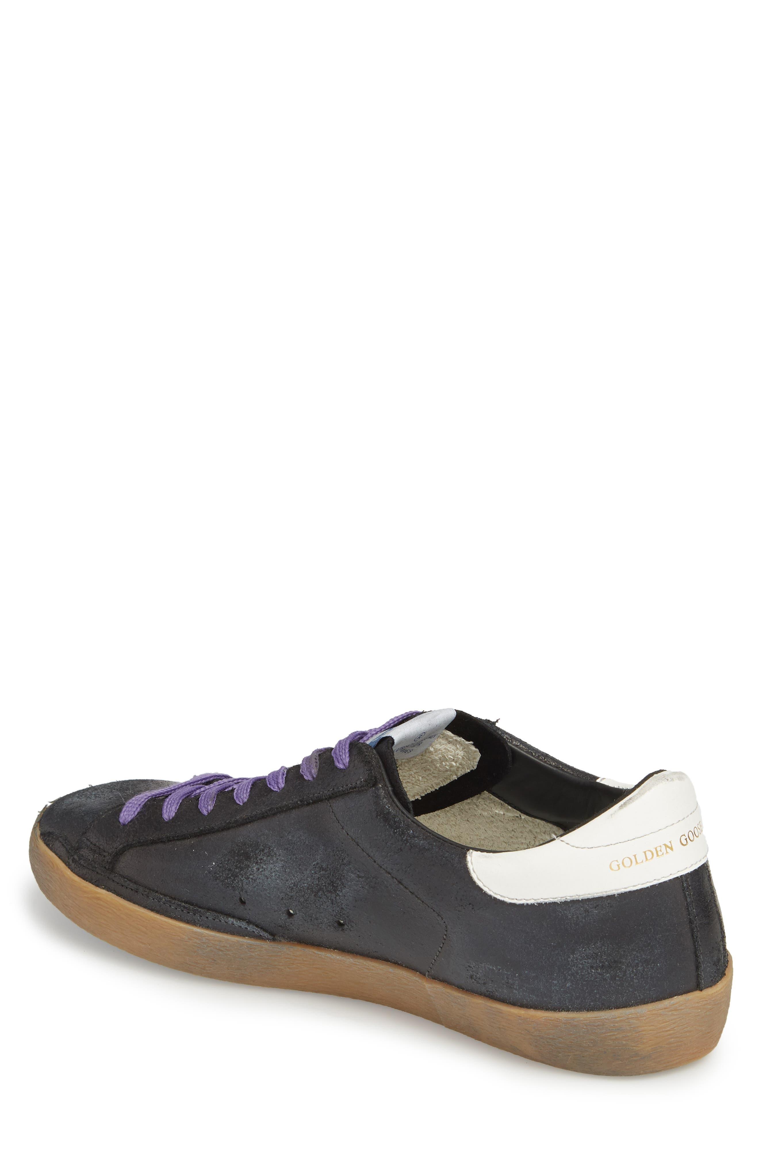 'Superstar' Sneaker,                             Alternate thumbnail 2, color,                             BLACK CRACK-BLUE STAR