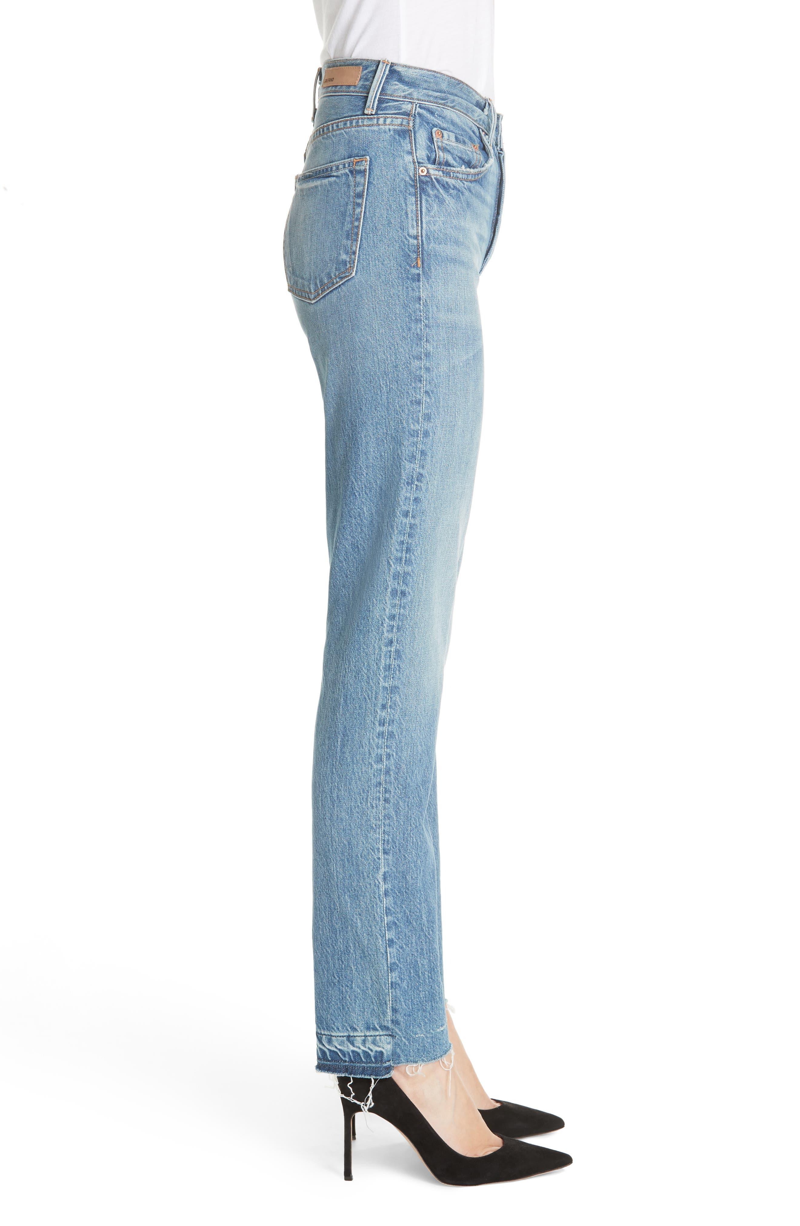 Helena Straight Leg Jeans,                             Alternate thumbnail 3, color,                             GIULIA