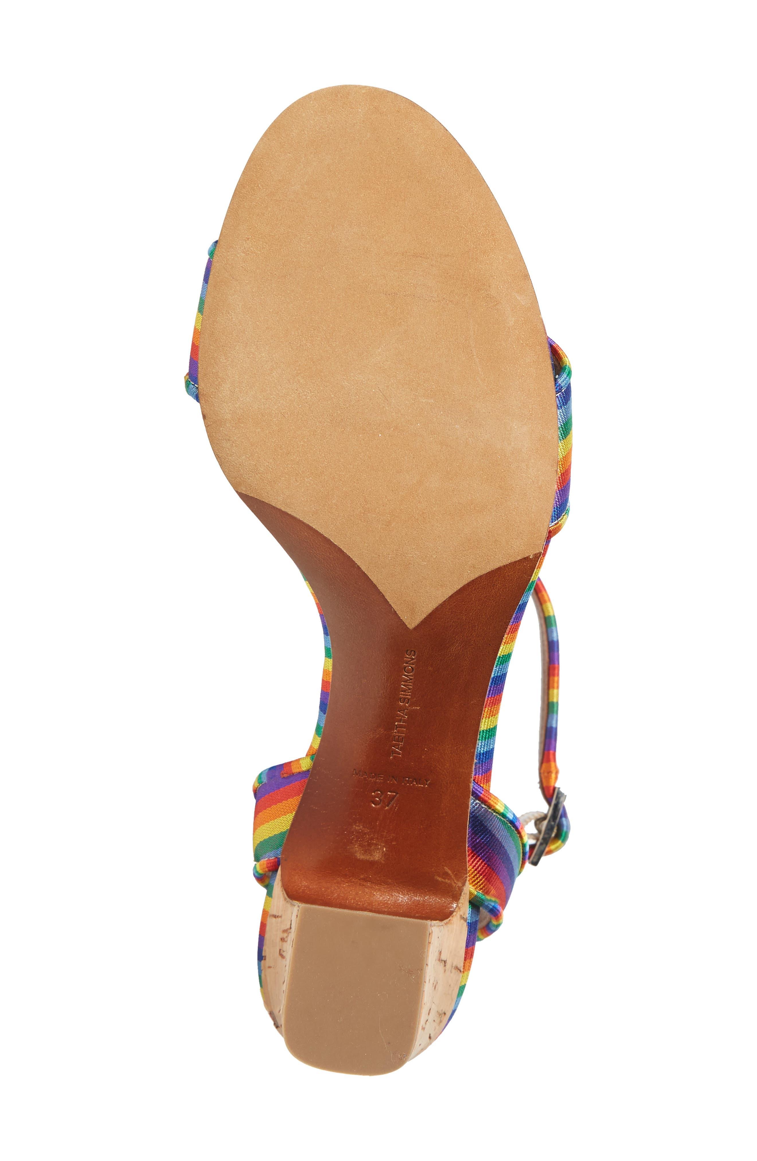 Leticia Cork Heel Sandal,                             Alternate thumbnail 6, color,                             600