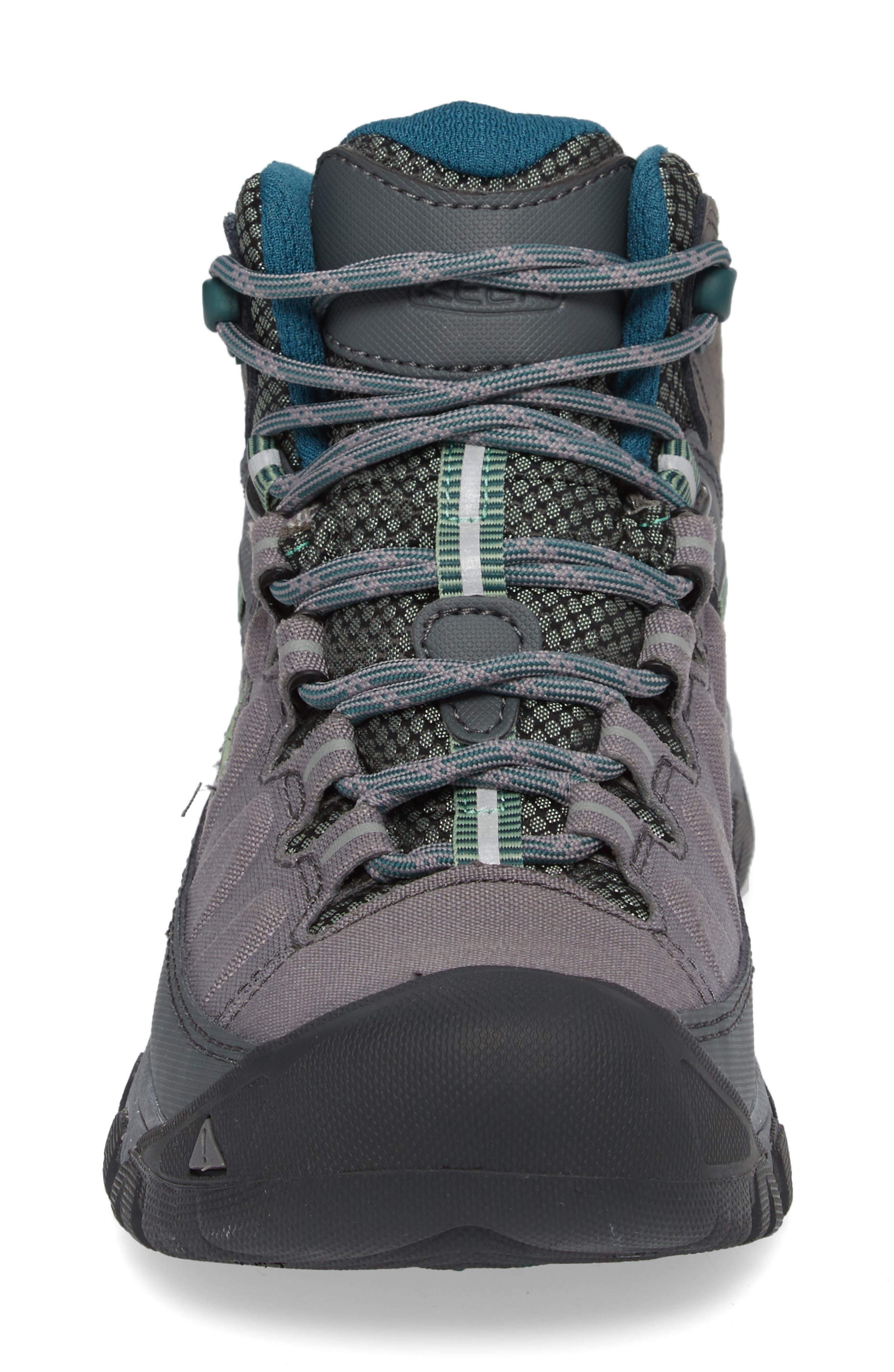 Targhee EXP Mid Waterproof Hiking Shoe,                             Alternate thumbnail 4, color,                             STEEL GREY/ BASIL