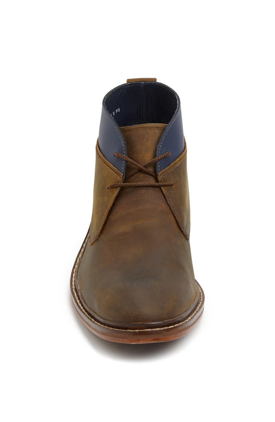 'Colton' Chukka Boot,                             Alternate thumbnail 3, color,                             COPPER/ PEACOAT LEATHER