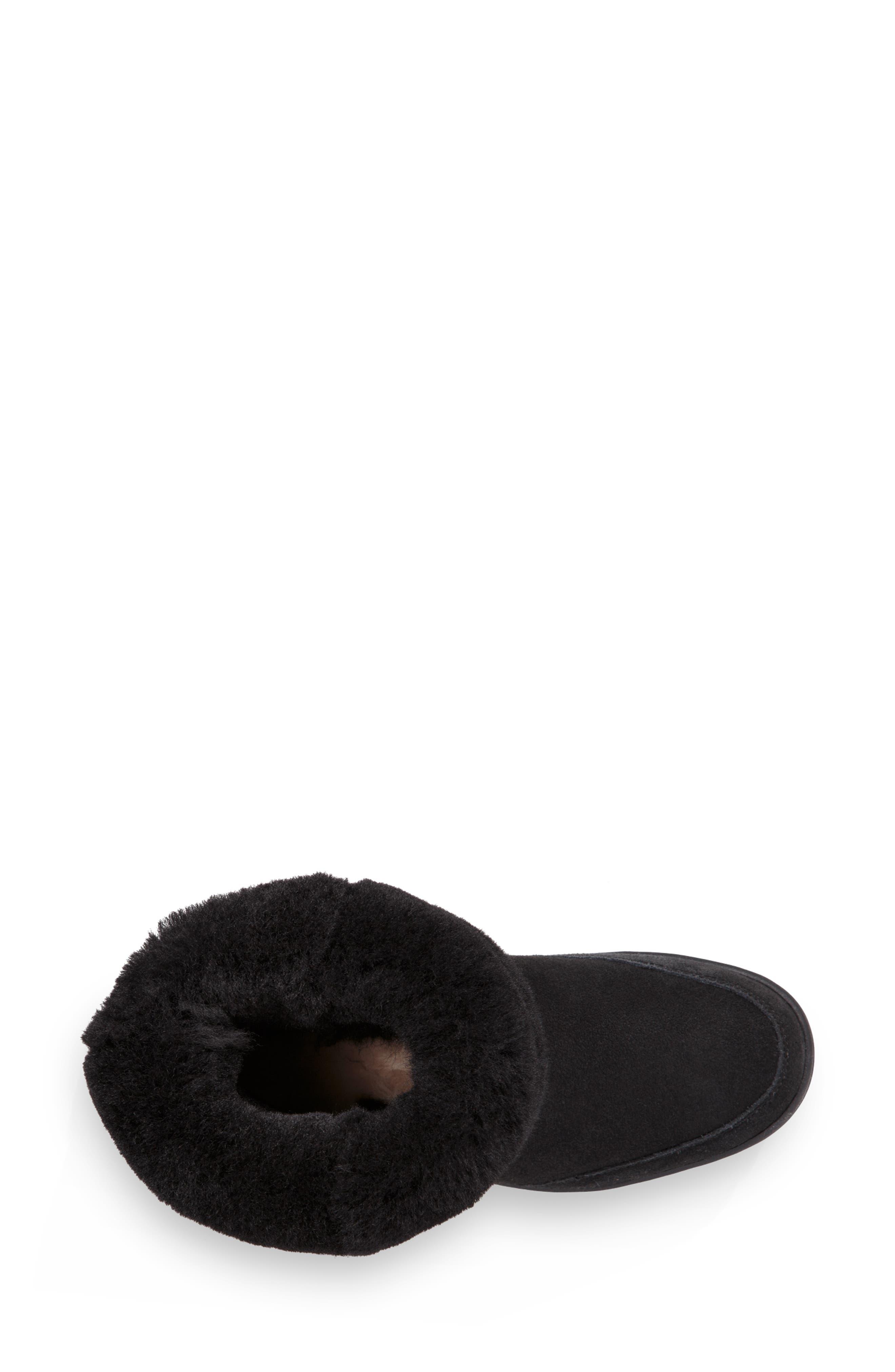 Ultra Revival Genuine Shearling Short Boot,                             Alternate thumbnail 5, color,                             BLACK