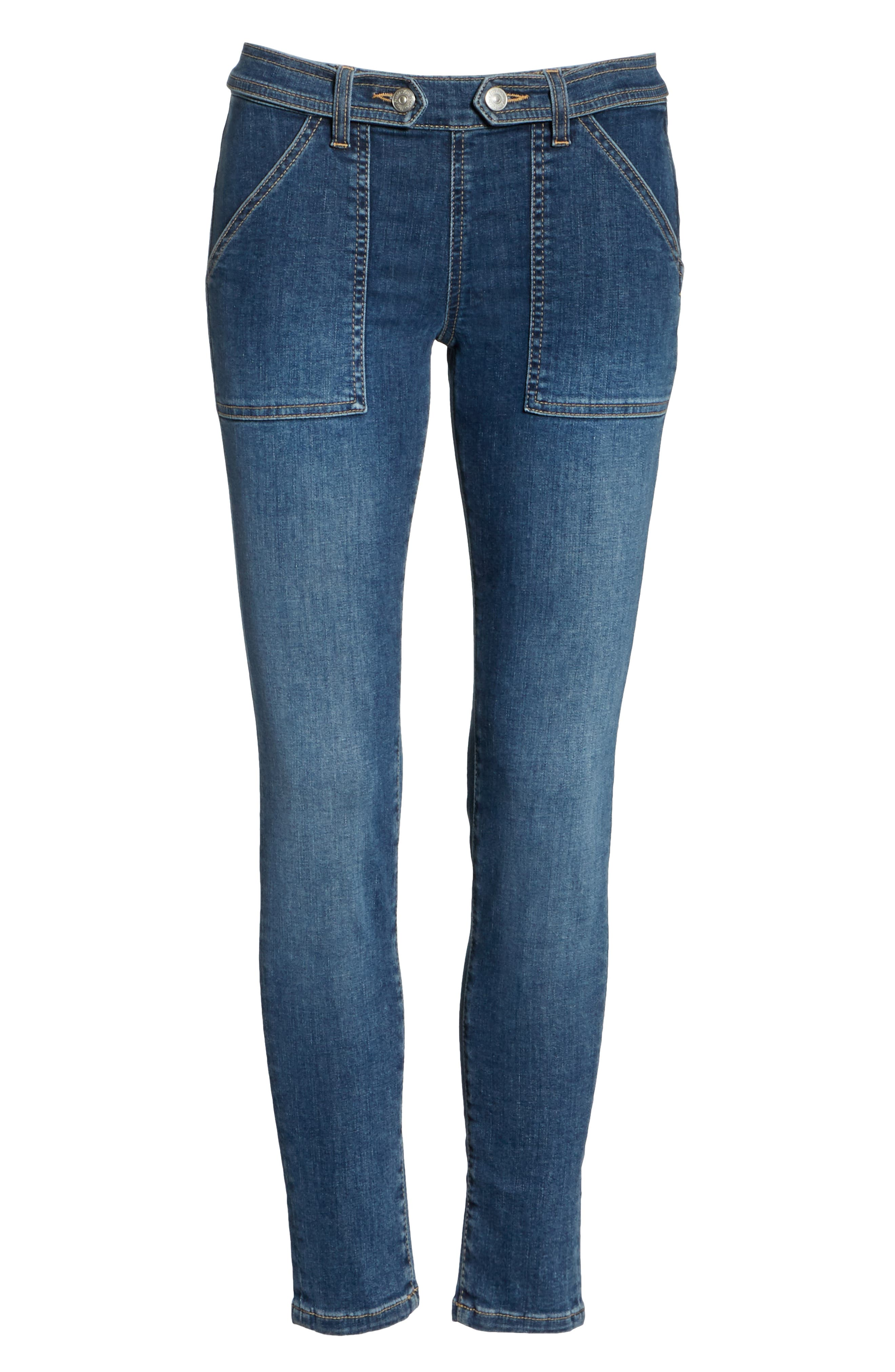 We the Free by Free People Stratford Skinny Jeans,                             Alternate thumbnail 7, color,                             400
