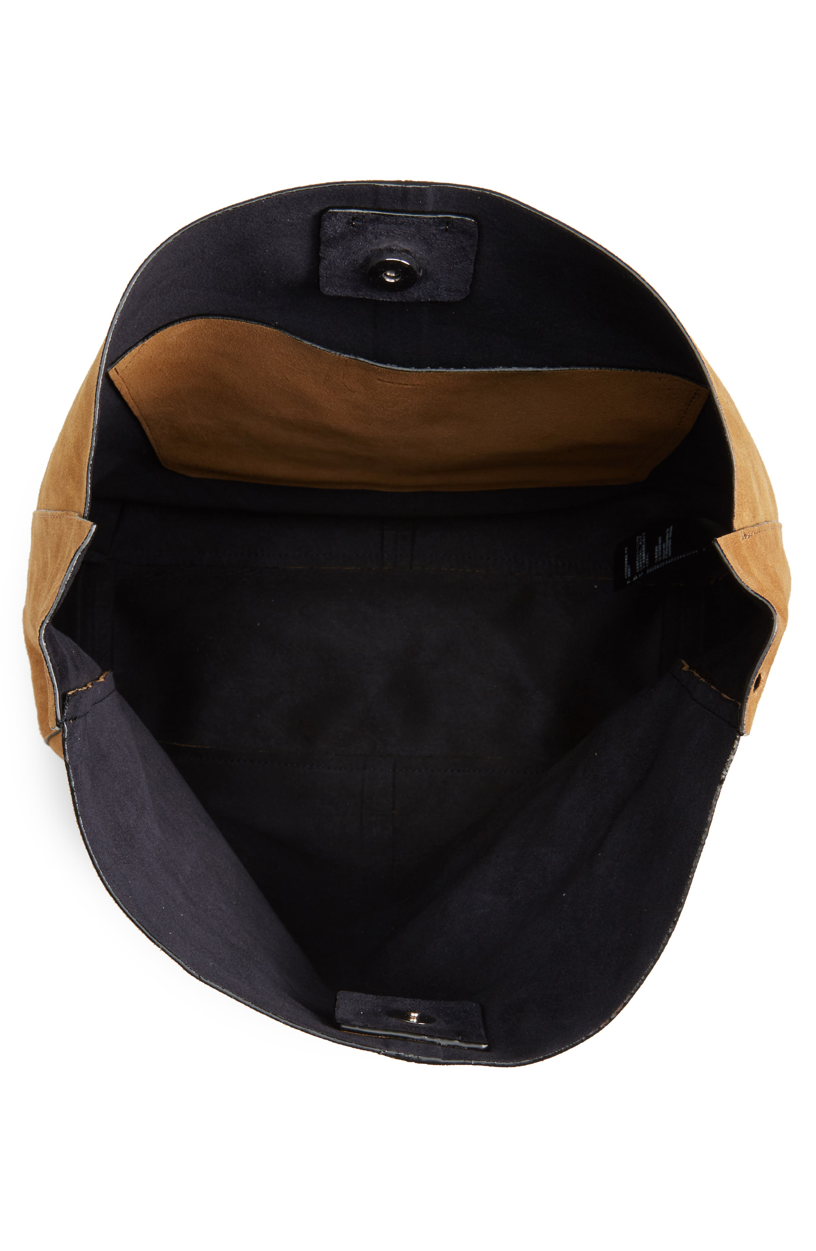 Asymmetric Suede Hobo Bag,                             Alternate thumbnail 8, color,