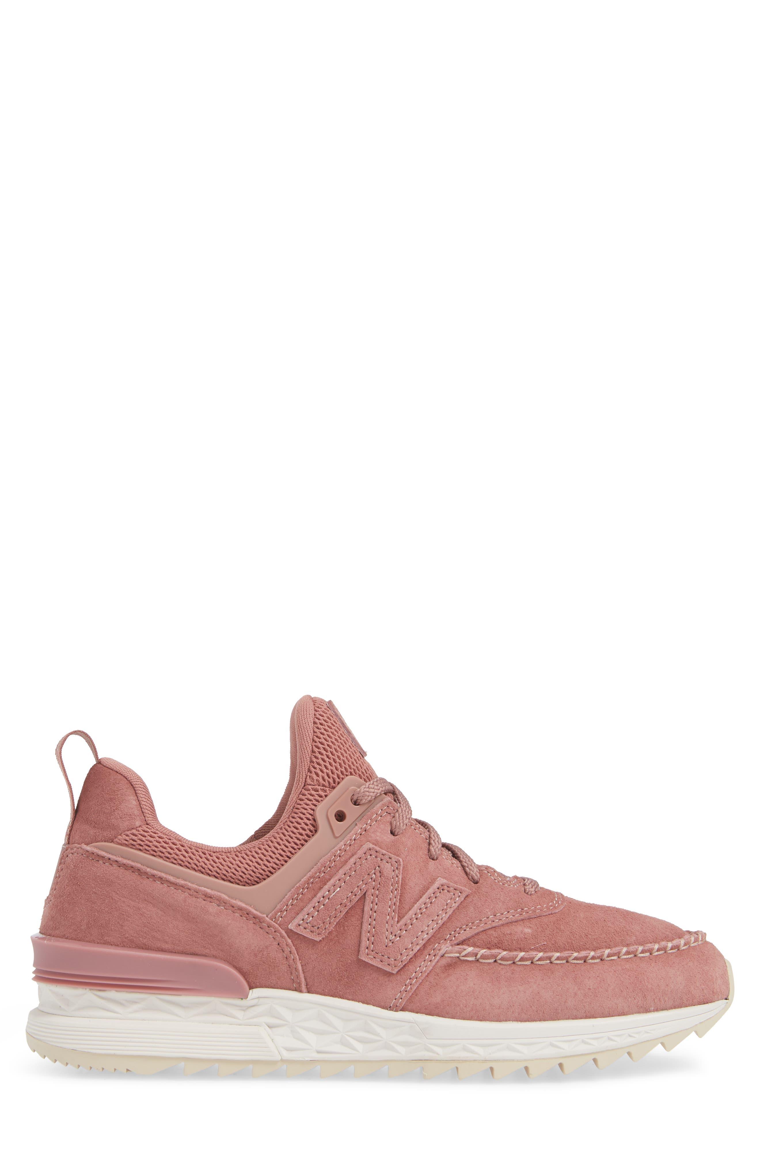 574 Sport Sneaker,                             Alternate thumbnail 3, color,                             DARK OXIDE SUEDE/ MESH