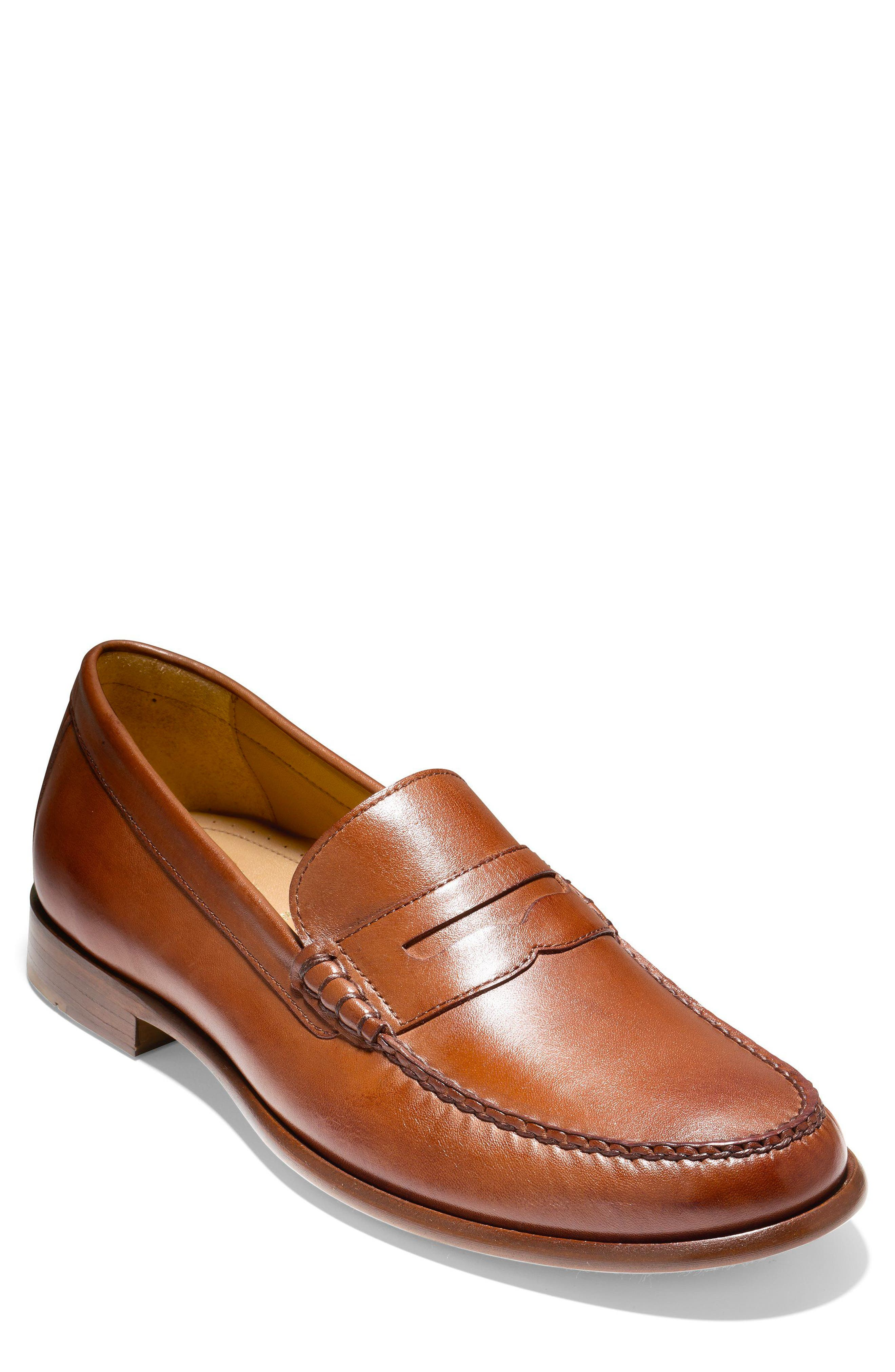 Pinch Penny Loafer,                             Main thumbnail 1, color,                             BRITISH TAN LEATHER