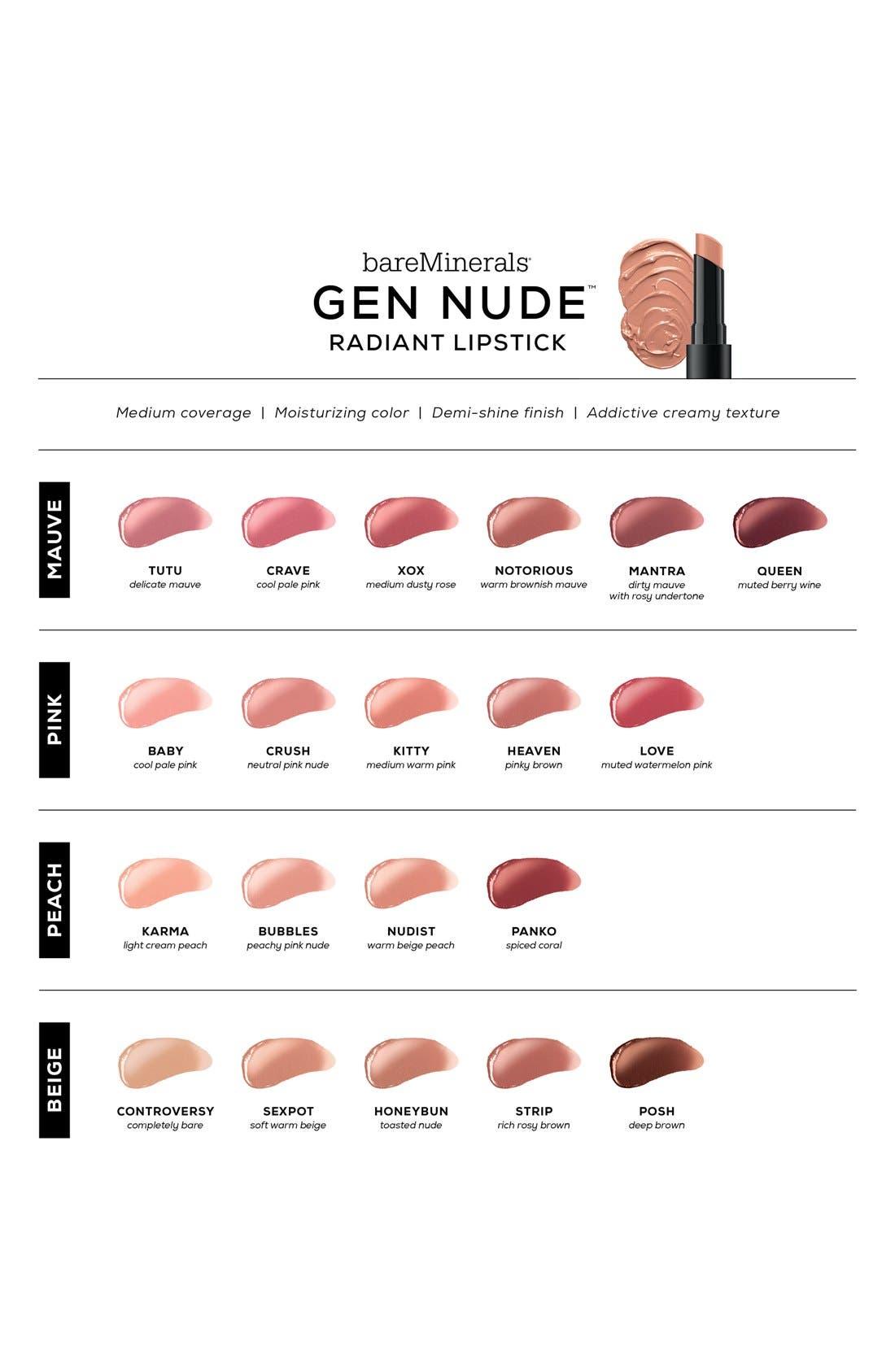 Gen Nude<sup>™</sup> Radiant Lipstick,                             Alternate thumbnail 4, color,                             SEXPOT