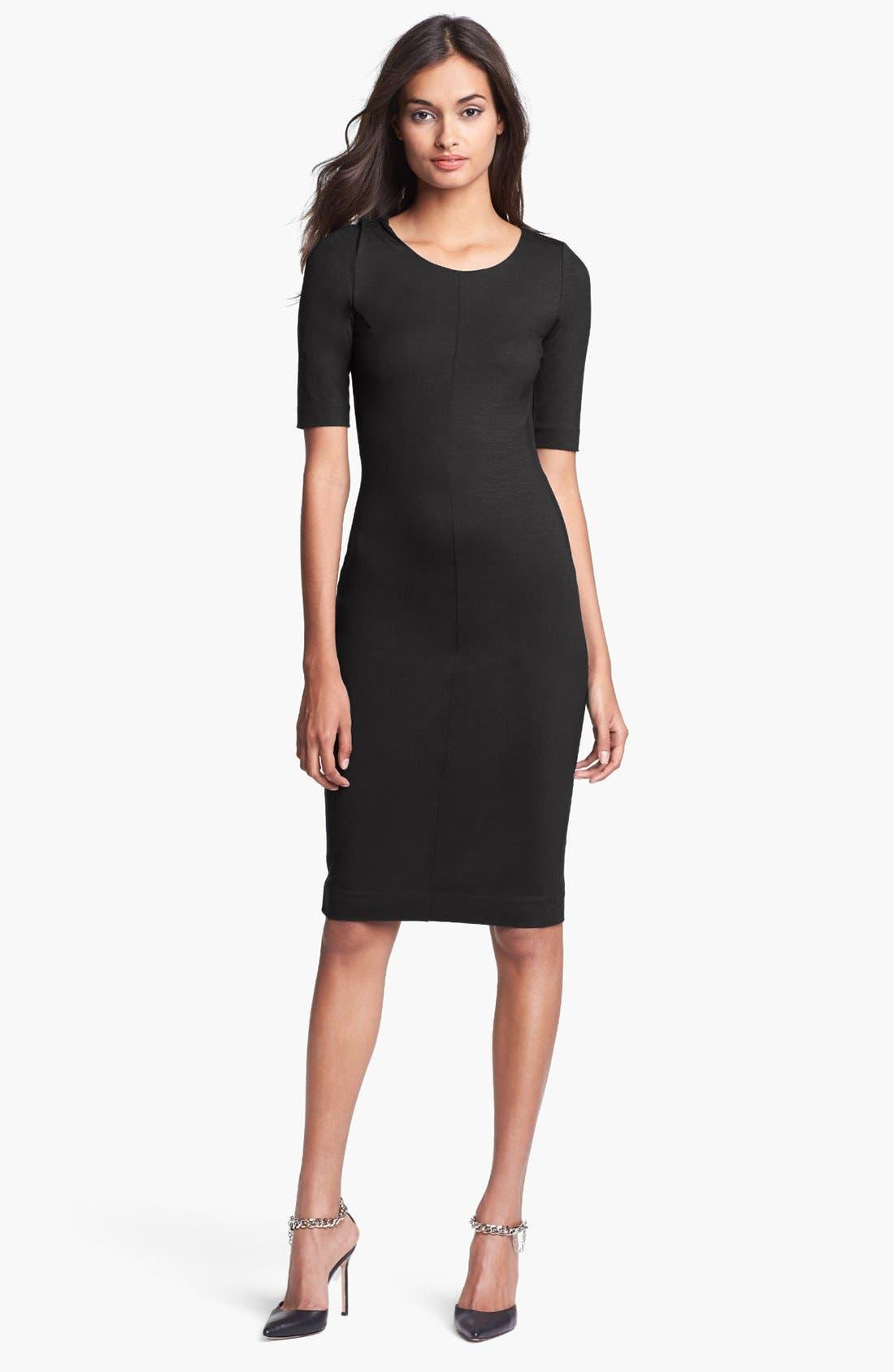 'Raquel' Knit Sheath Dress,                             Main thumbnail 1, color,                             001