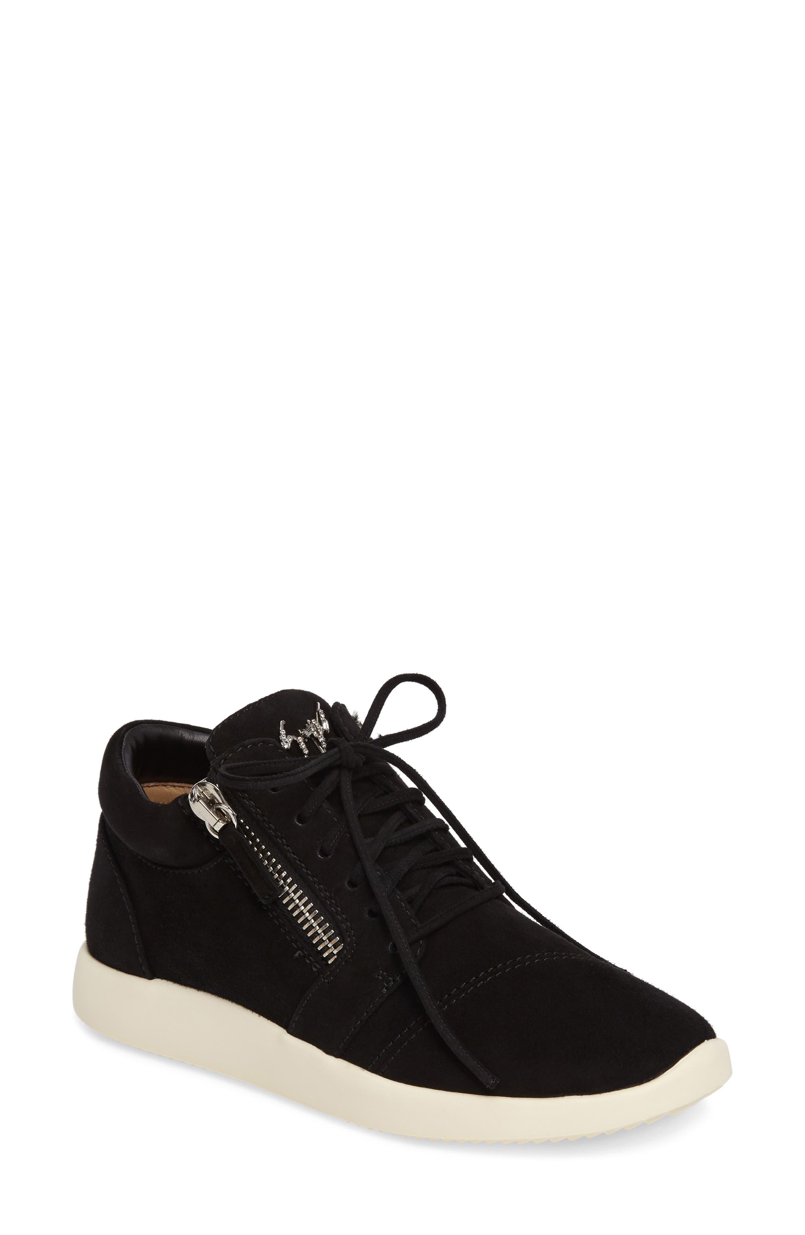 Zip Mid-Top Sneaker,                             Main thumbnail 1, color,                             001