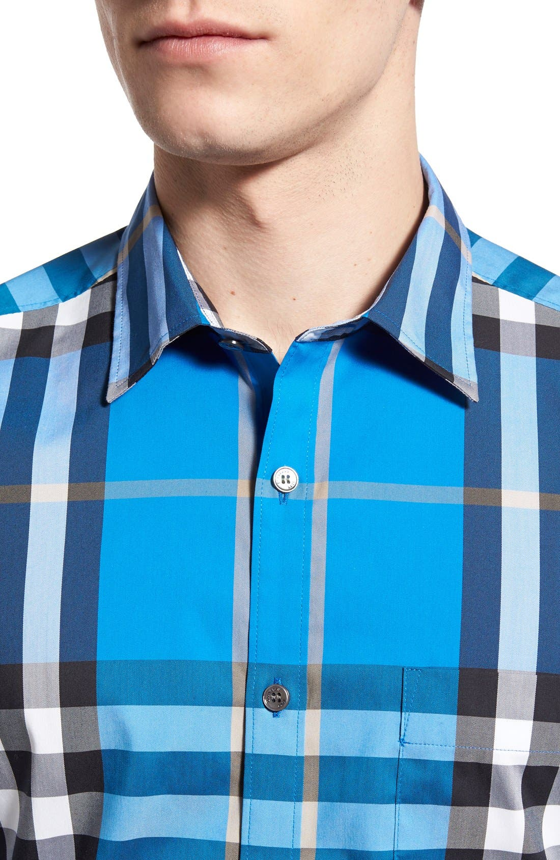 Nelson Check Sport Shirt,                             Alternate thumbnail 88, color,