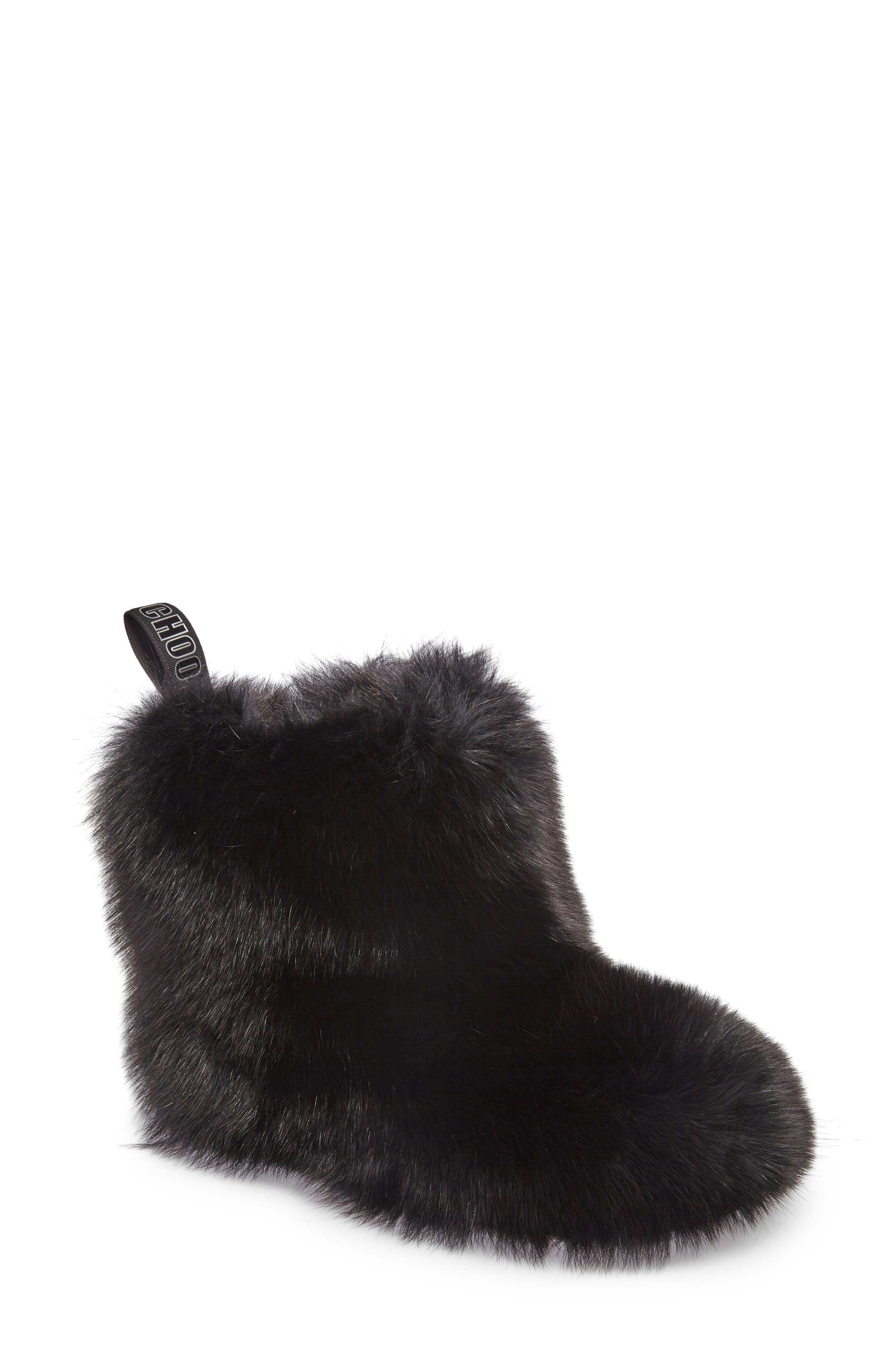 Dalton Genuine Fox & Rabbit Fur Bootie,                         Main,                         color, 001