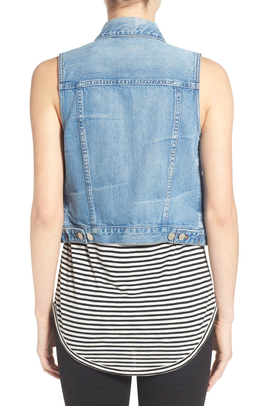 MADEWELL,                             Chest Pocket Denim Vest,                             Alternate thumbnail 6, color,                             400