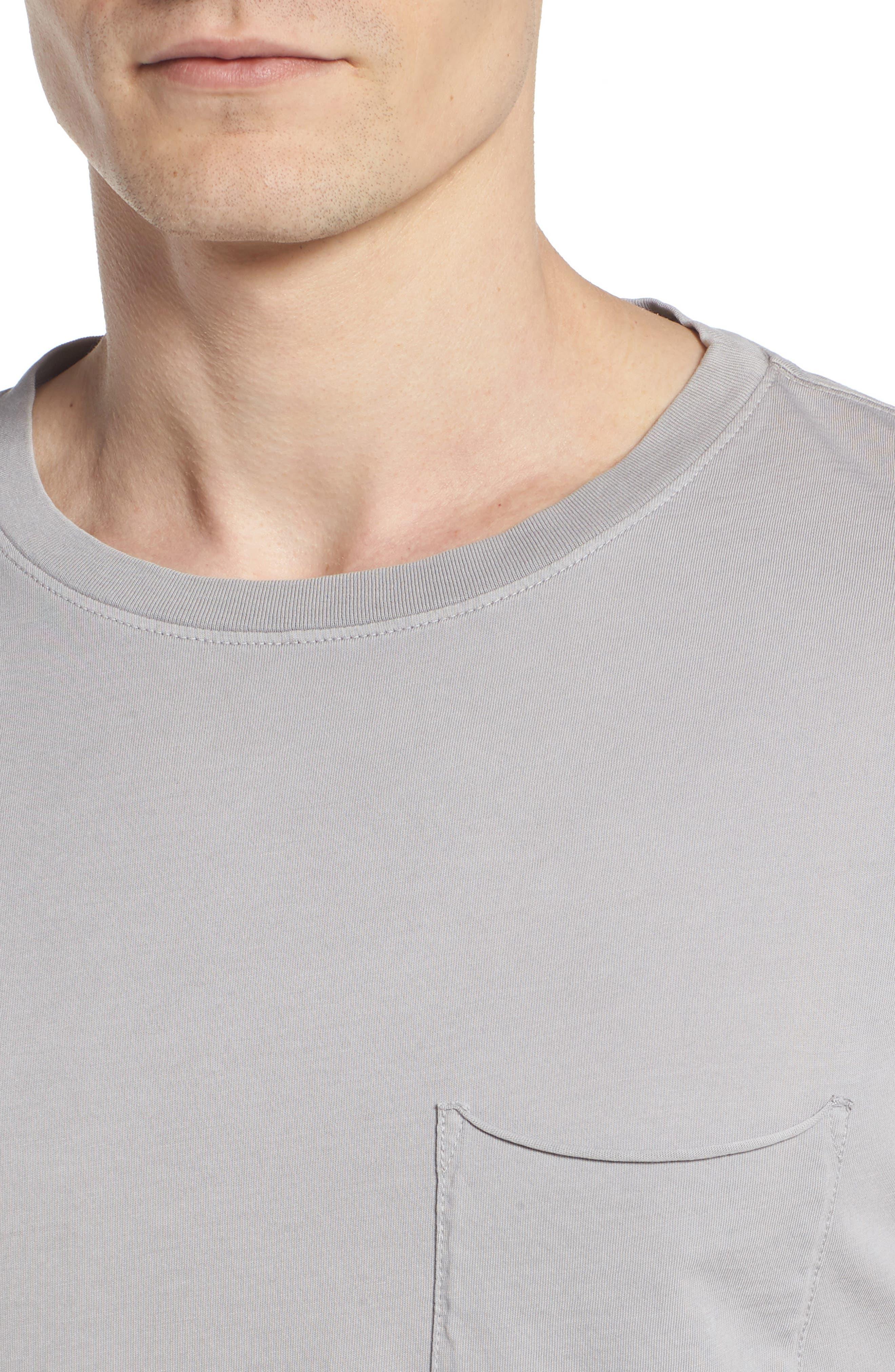 Anders Slim Fit Pocket T-Shirt,                             Alternate thumbnail 4, color,                             SUN FADED PEBBLE BEACH