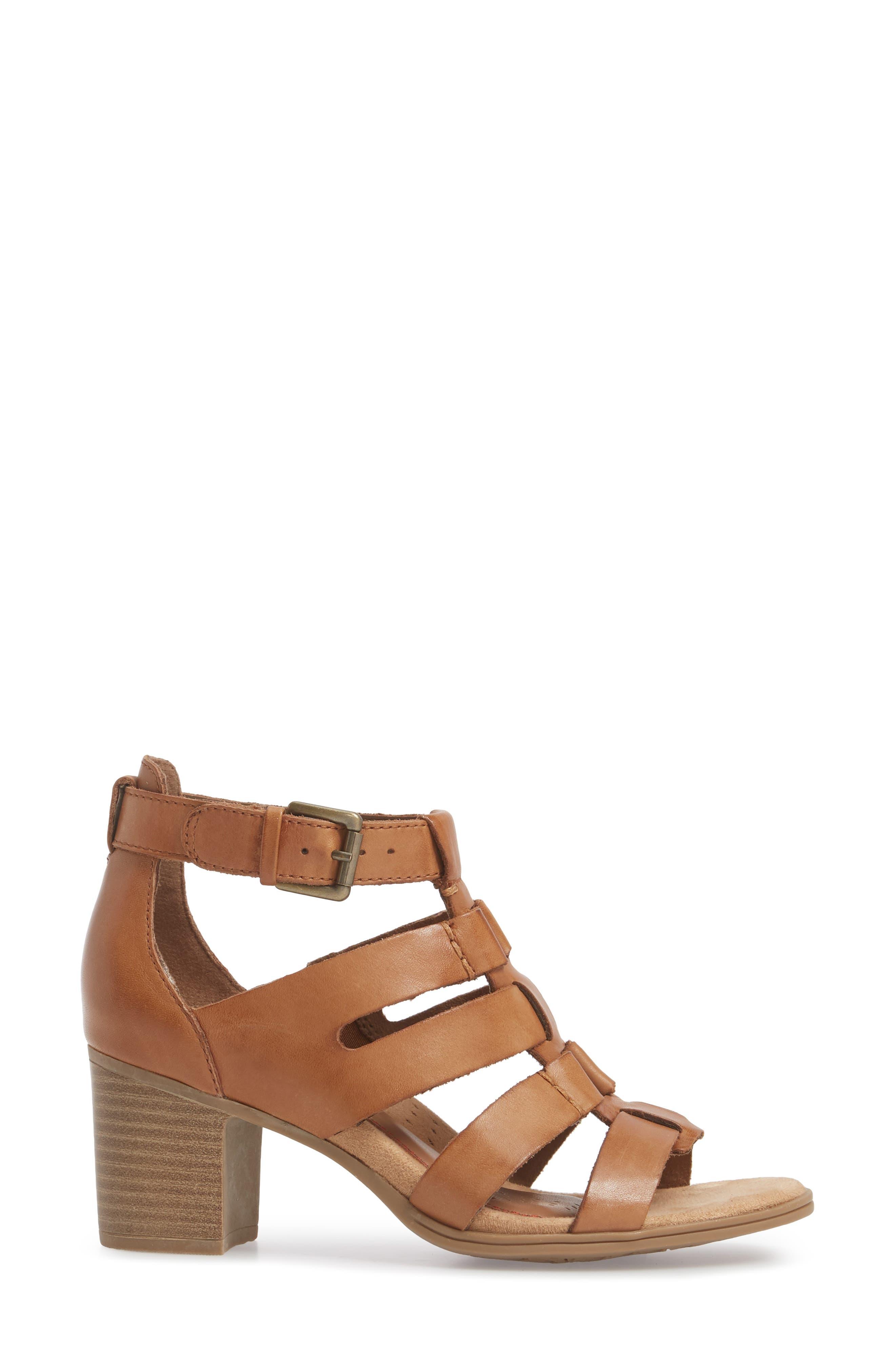 Hattie Block Heel Gladiator Sandal,                             Alternate thumbnail 3, color,                             231