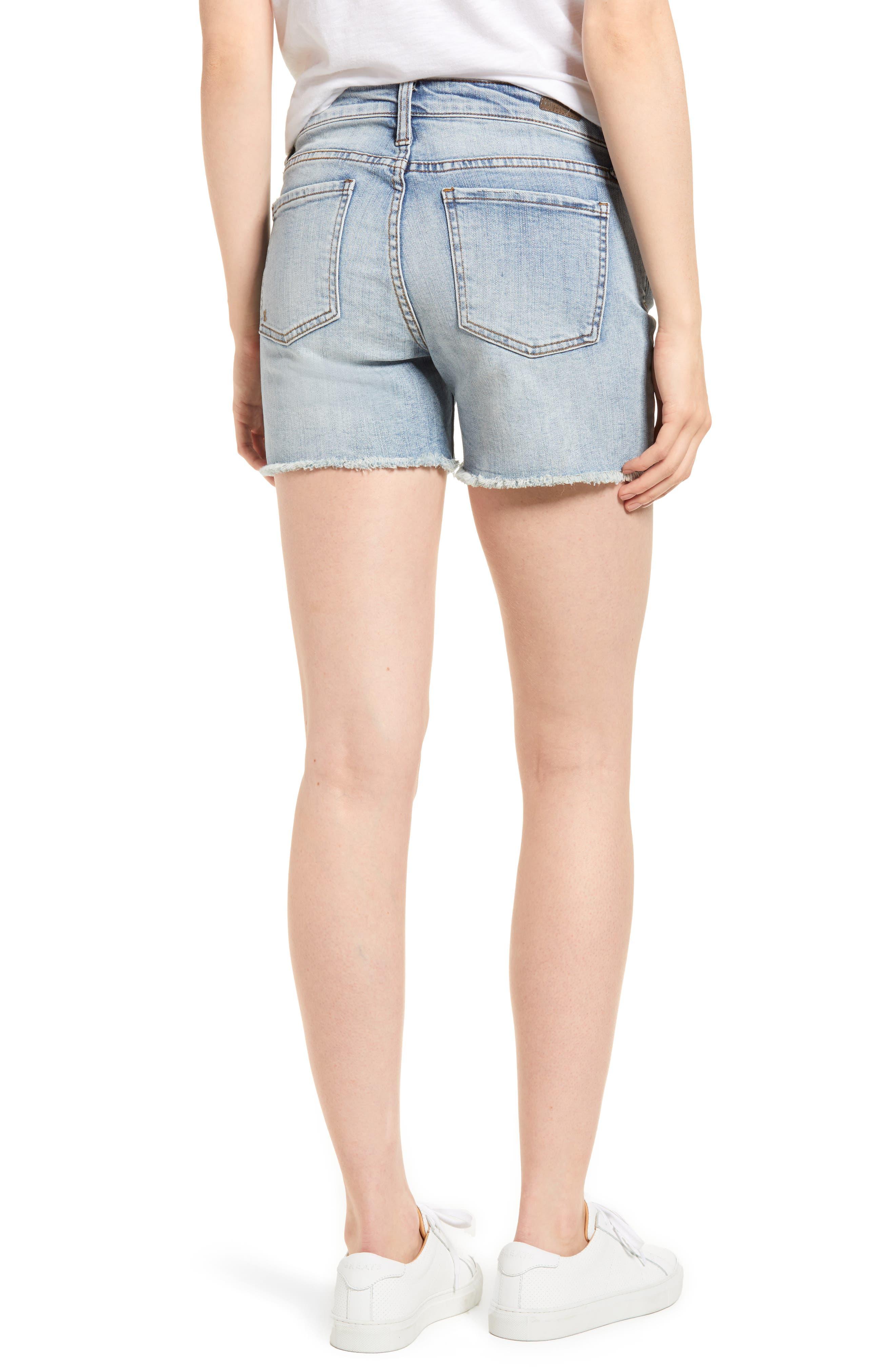 Gidget Cutoff Denim Shorts,                             Alternate thumbnail 2, color,                             470
