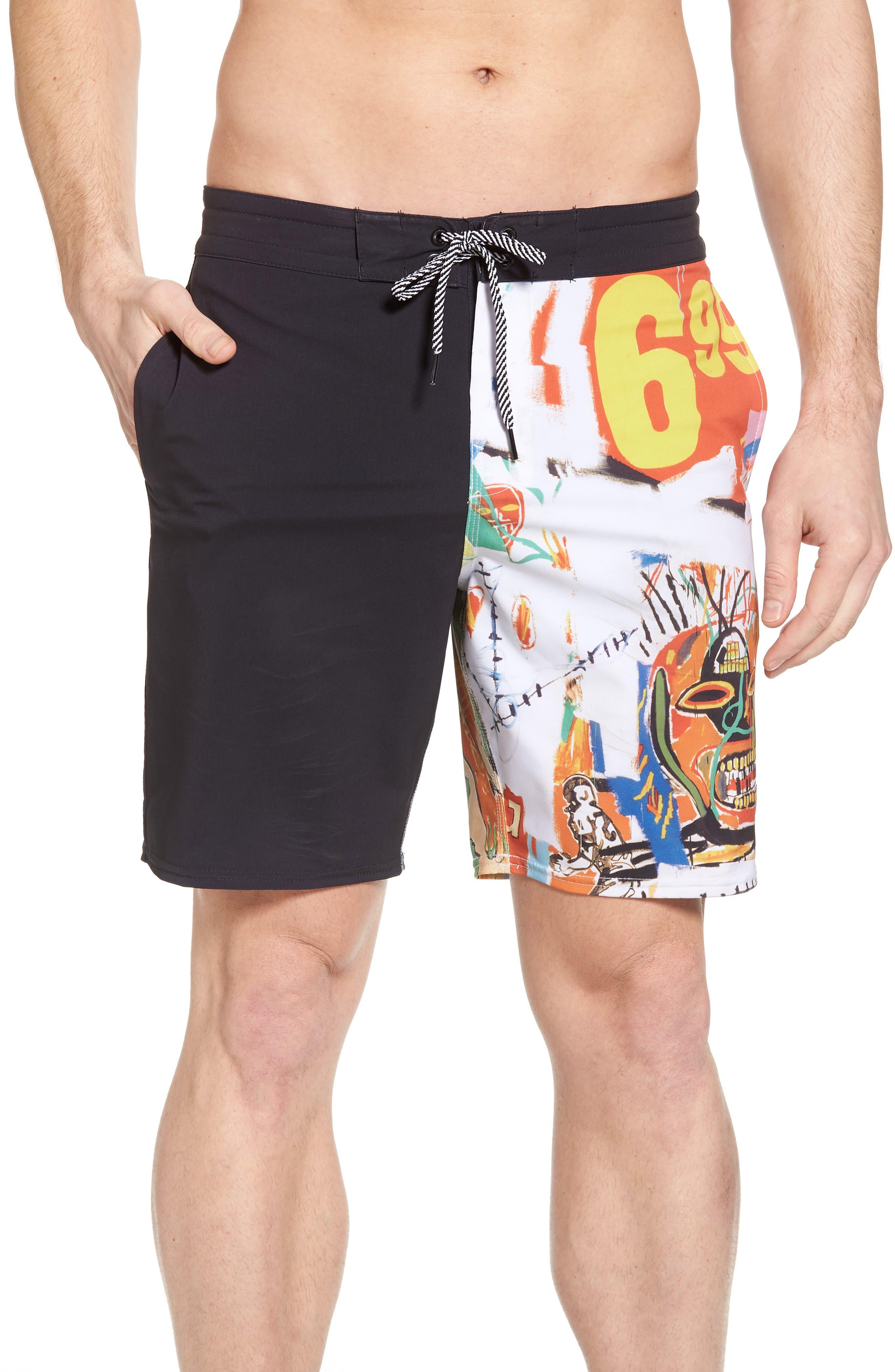 x Warhol 699 Board Shorts,                             Main thumbnail 1, color,                             100