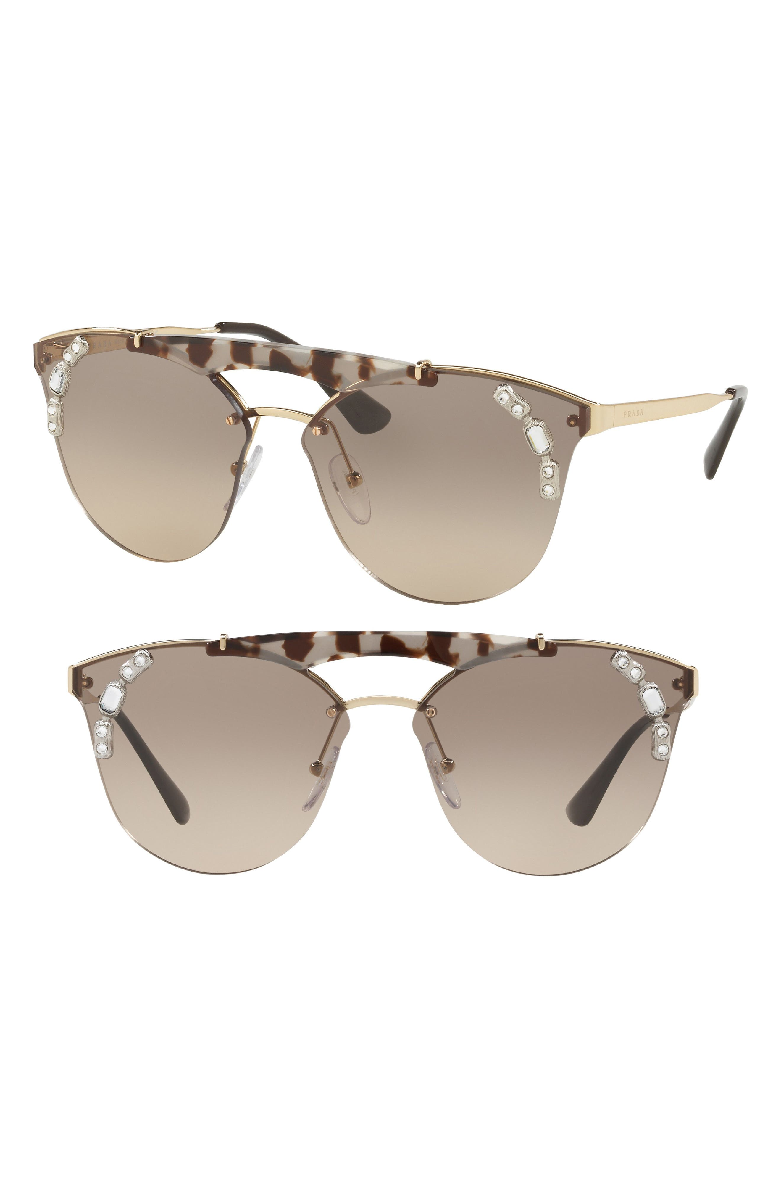 53mm Embellished Rimless Sunglasses,                             Alternate thumbnail 2, color,