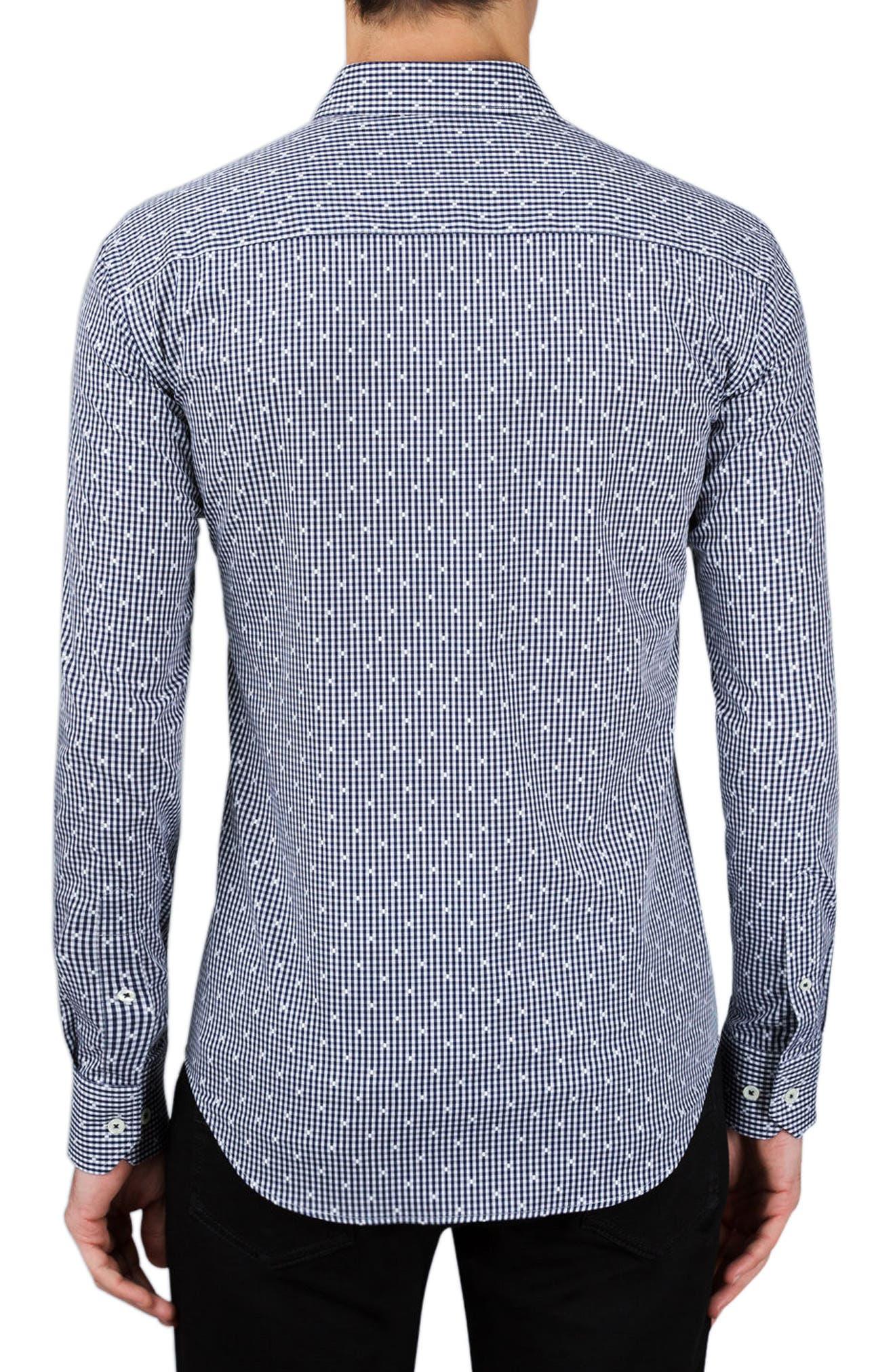 Shaped Fit Check Sport Shirt,                             Alternate thumbnail 2, color,                             410