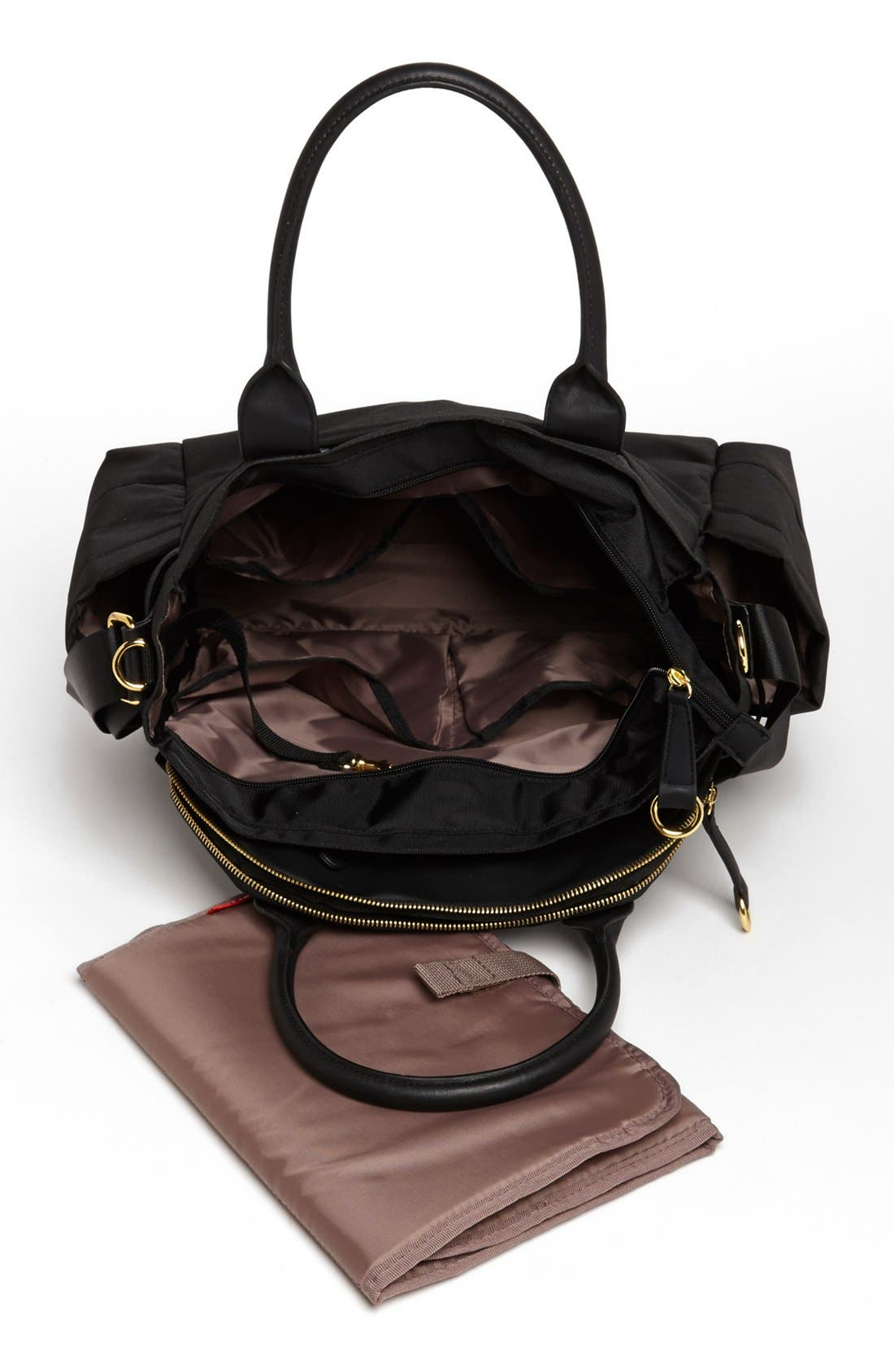 'Chelsea' Diaper Bag,                             Alternate thumbnail 2, color,                             BLACK